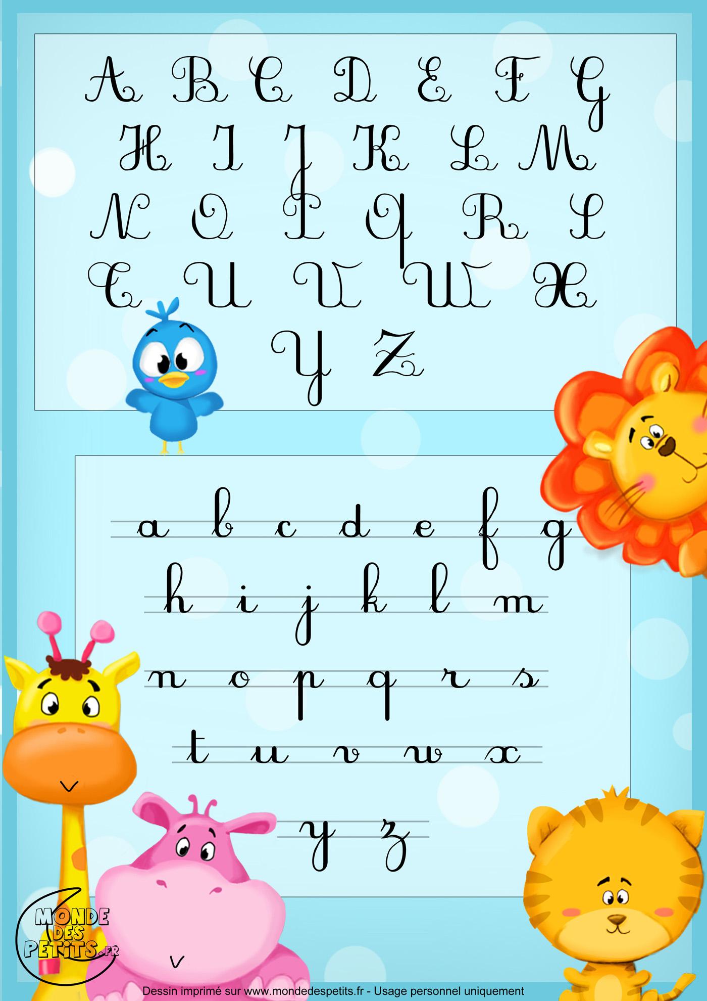 Monde des petits la chanson de l 39 alphabet - L alphabet en francais a imprimer ...