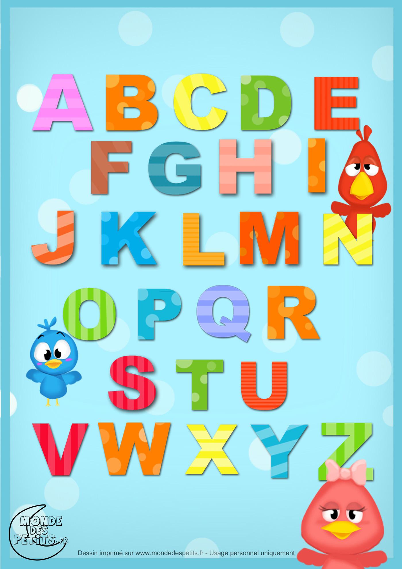 comptine, enfant, alphabet, chanson, lettre, imprimer,