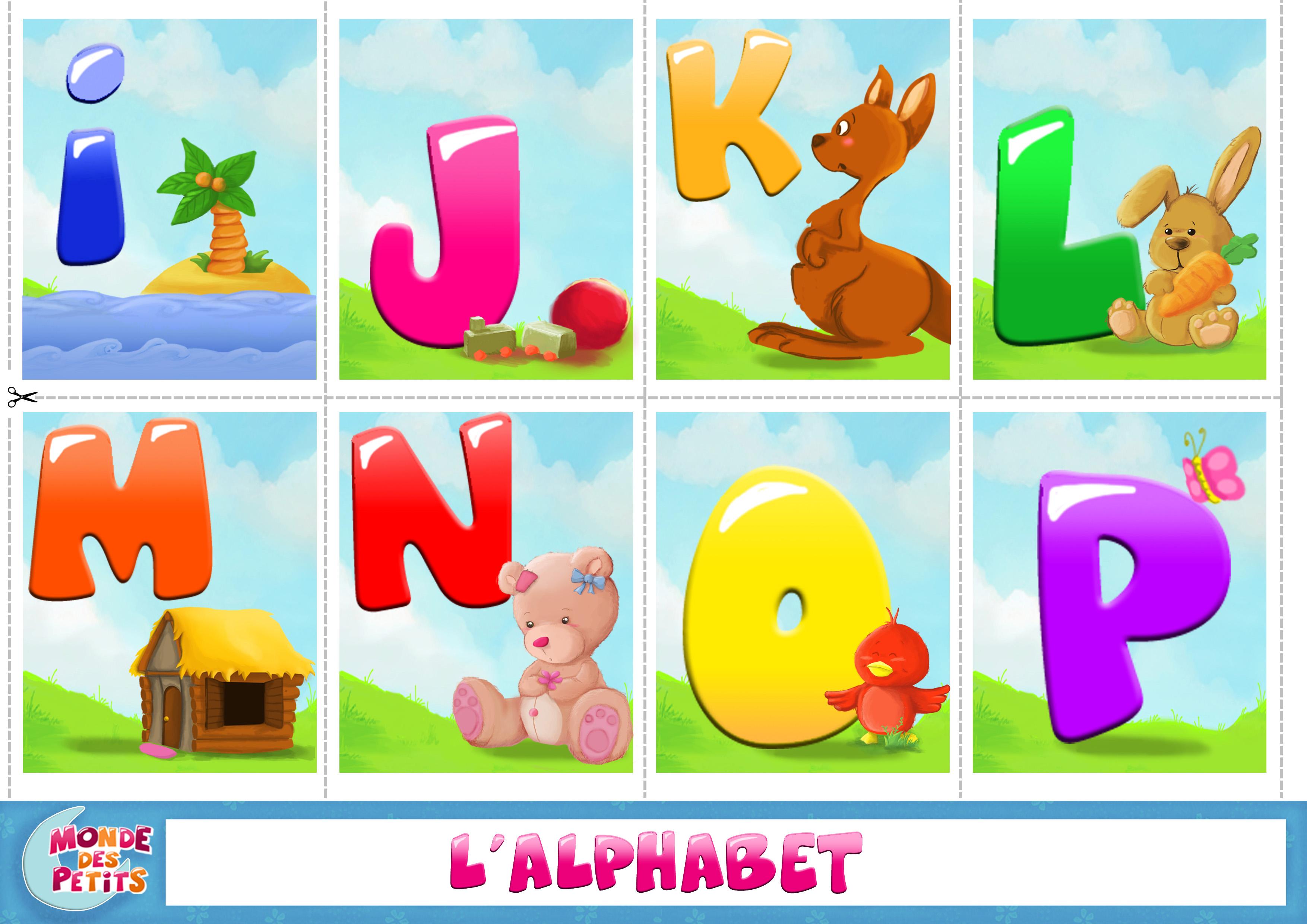 Cartes à imprimer apprendre l'alphabet