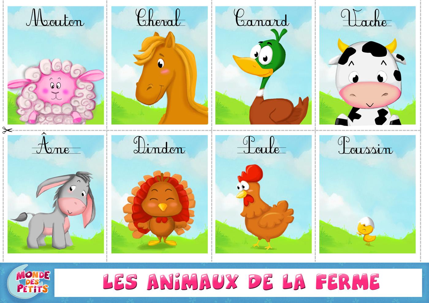 Comment apprendre le francais au petit - Images d animaux de la ferme ...