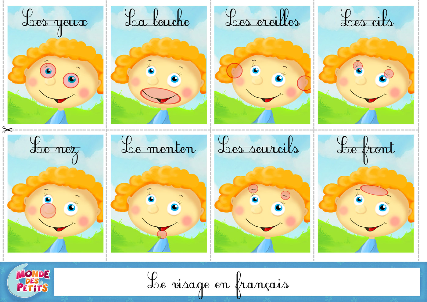 Hervorragend apprendre-carte-visage-francais.jpg (1400×990) | French Immersion  DP19