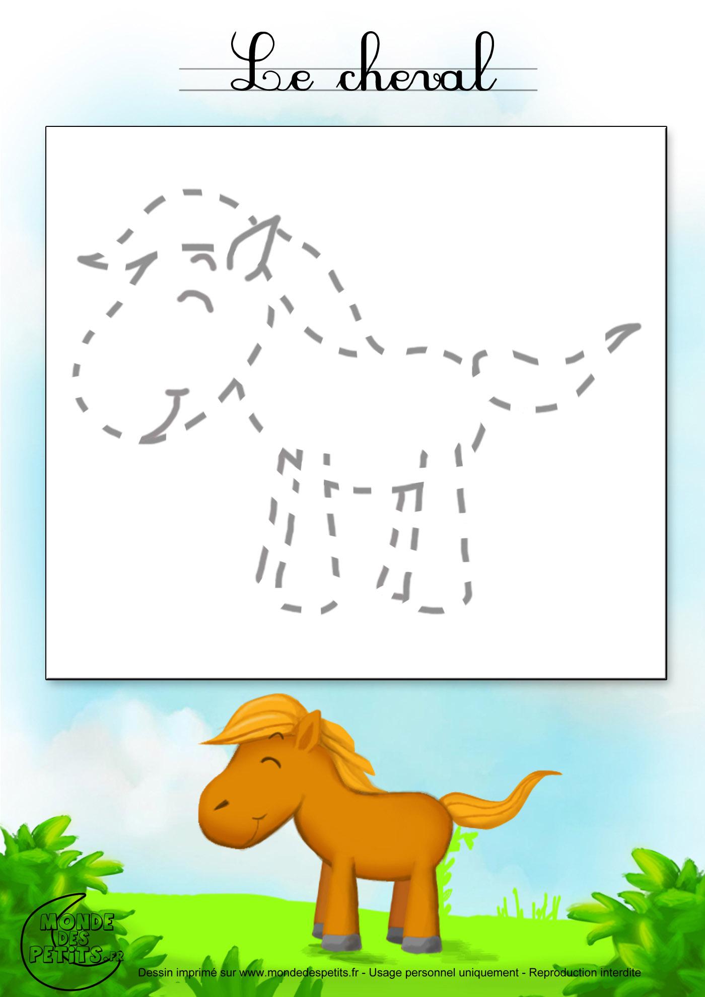 dessin cheval facile fj68