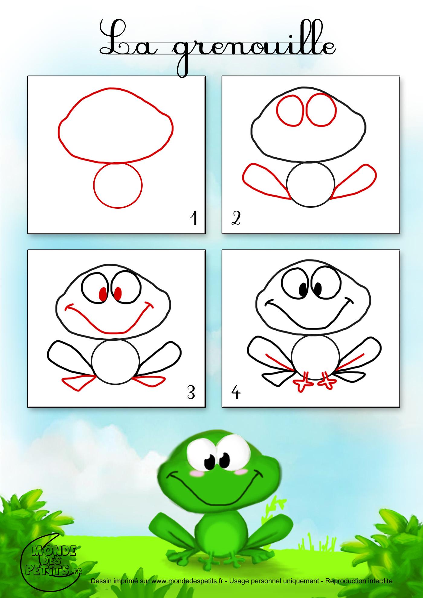 Dessin grenouilles - Dessiner des animaux ...