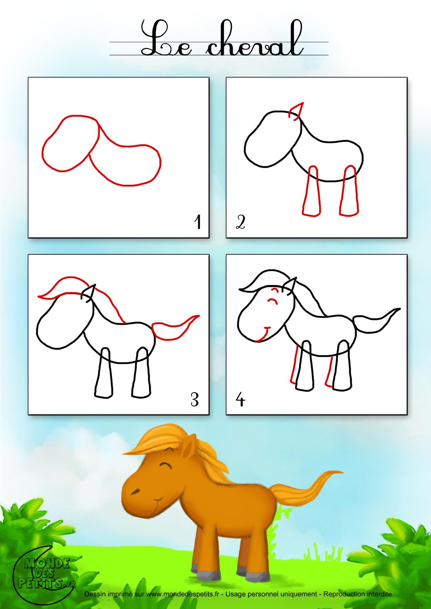 Dessin cheval on pinterest dessin dessin de cheval and - Apprendre dessiner cheval ...