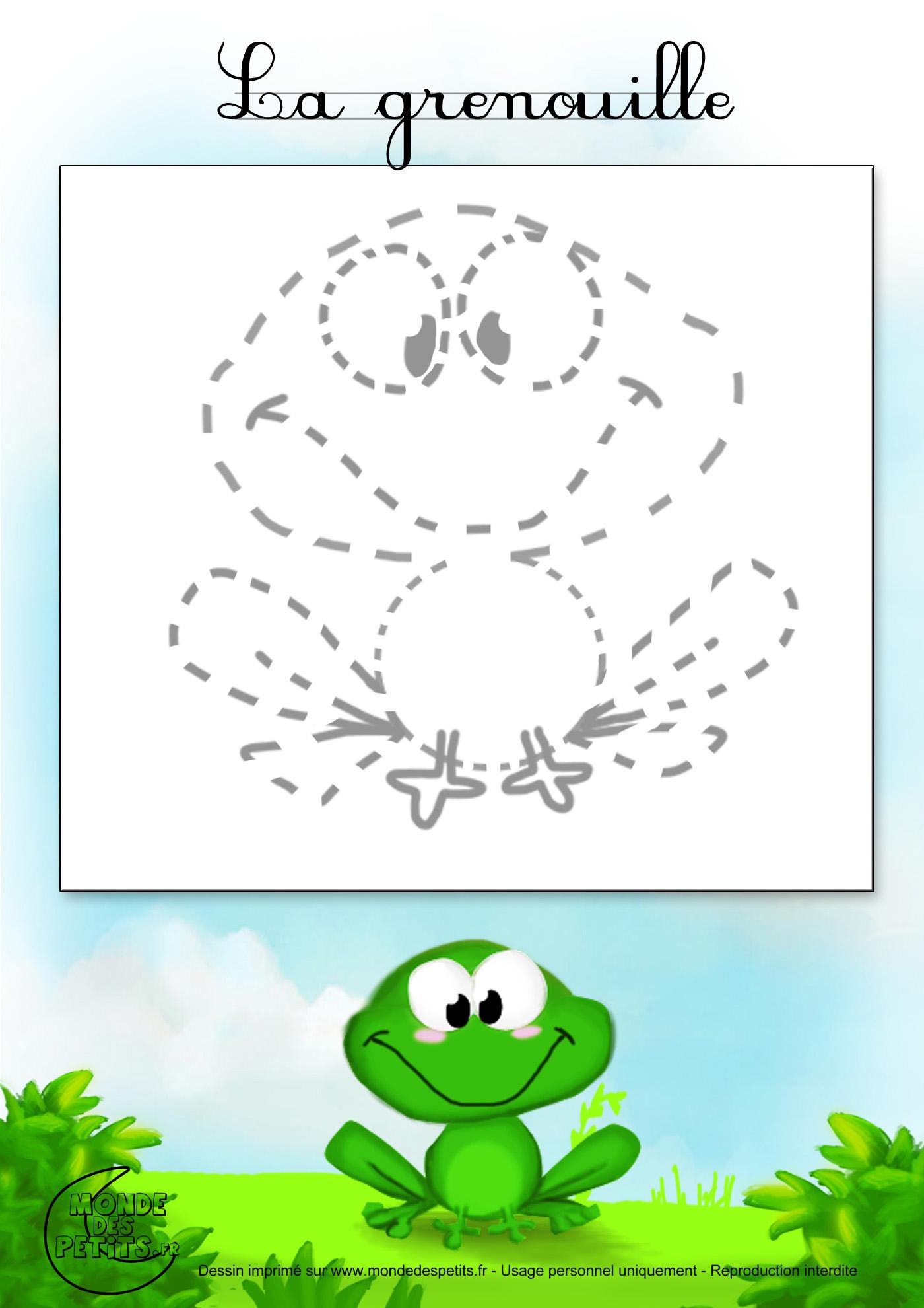 Monde des petits tutoriel vid o - Dessin de grenouille a imprimer ...
