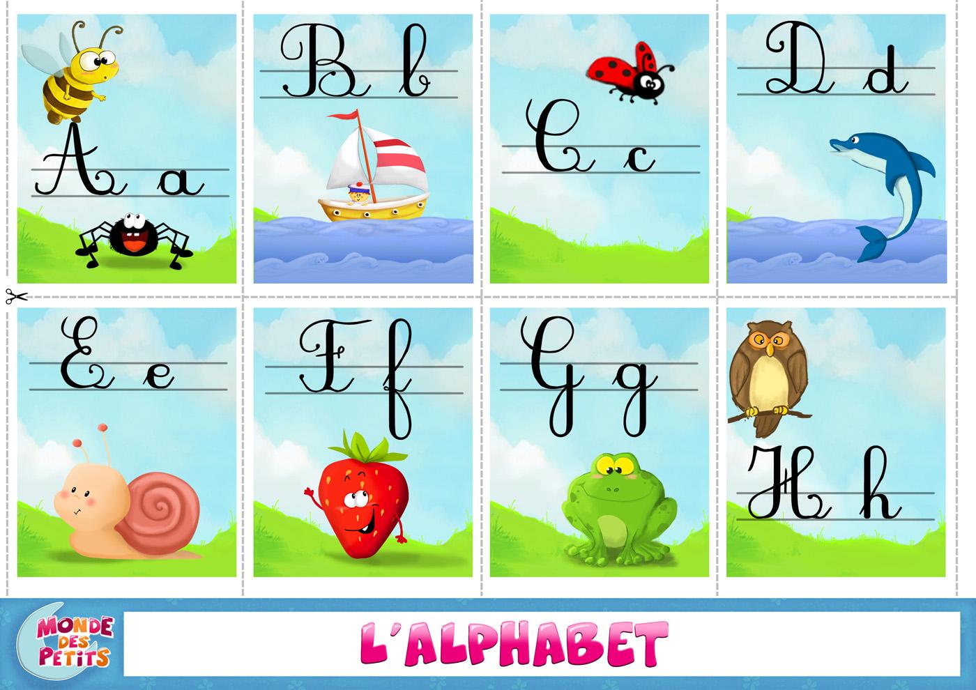 Apprendre l alphabet eu91 montrealeast - Alphabet francais maternelle ...