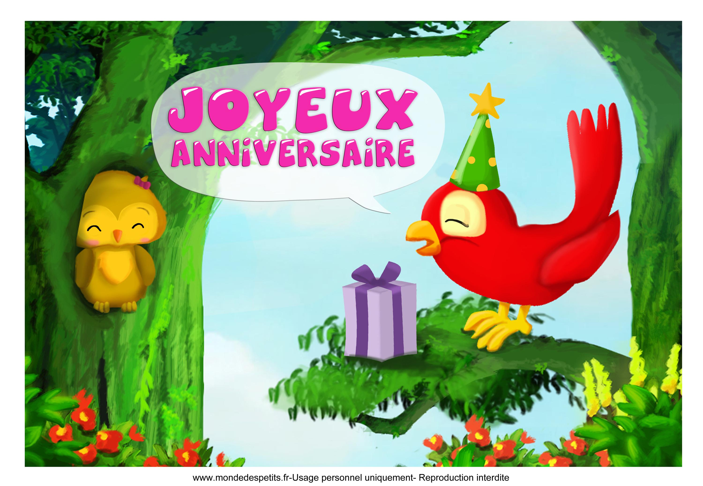 carte anniversaire bébé gratuite