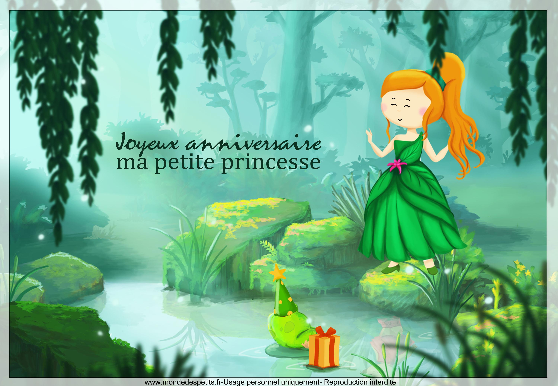 Monde des petits par th me - Carte anniversaire petite fille ...