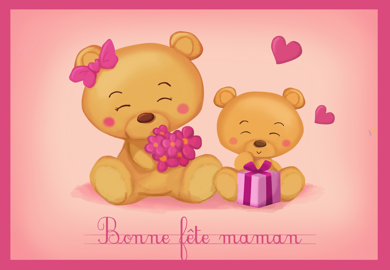 Carte Bonne Fete Maman Imprimer.Monde Des Petits Par Theme