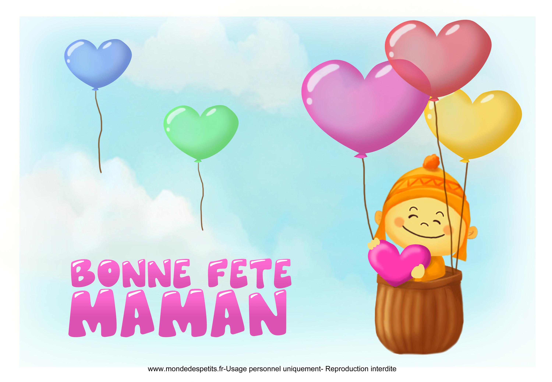 Carte Bonne Fete Maman A Imprimer Gratuit.Monde Des Petits Par Theme