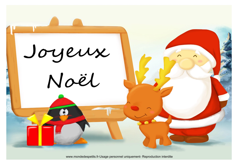Monde des petits par th me - Images noel a imprimer ...