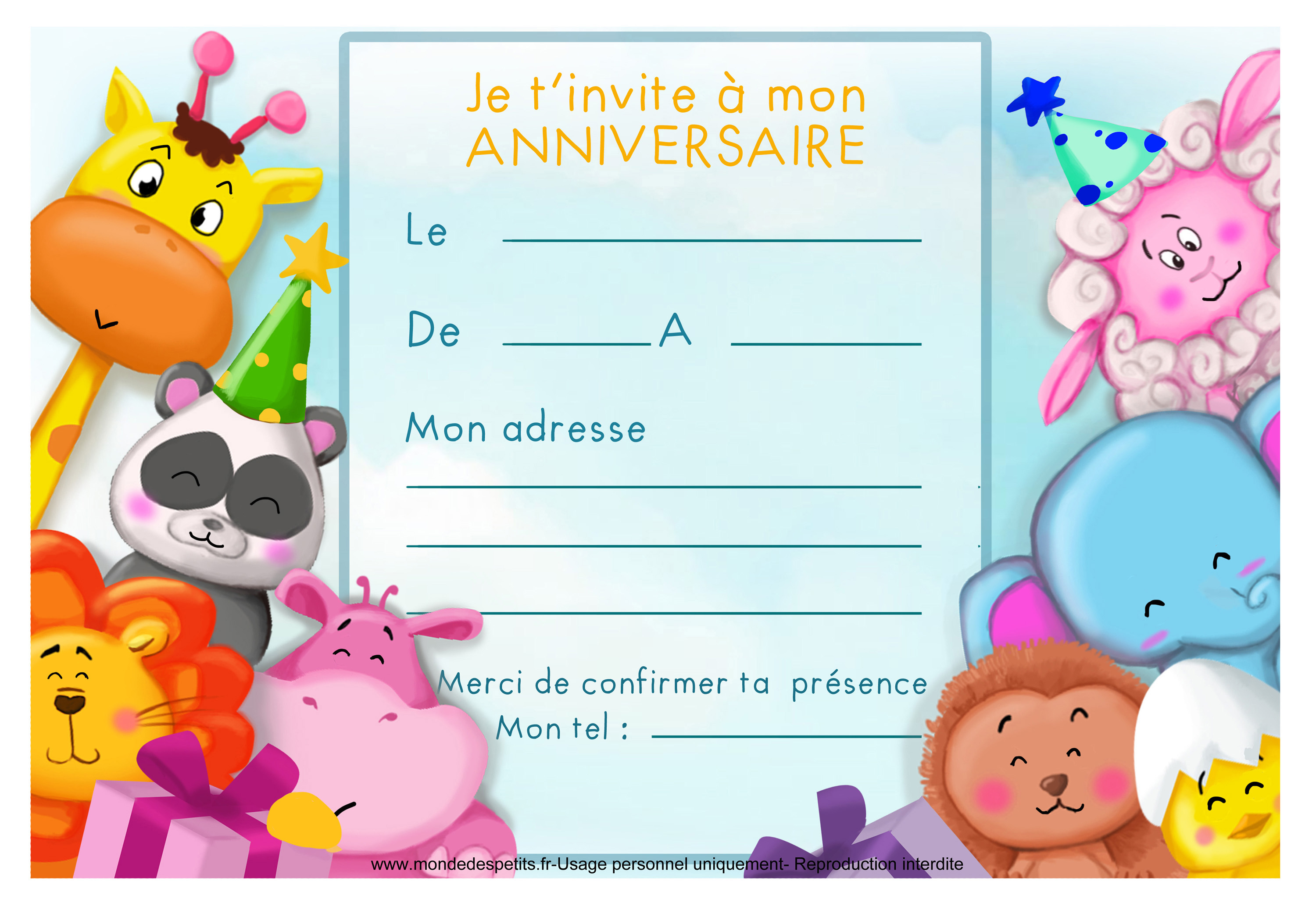 carte d invitation anniversaire imprimer invitation d 39 anniversaire 8. Black Bedroom Furniture Sets. Home Design Ideas