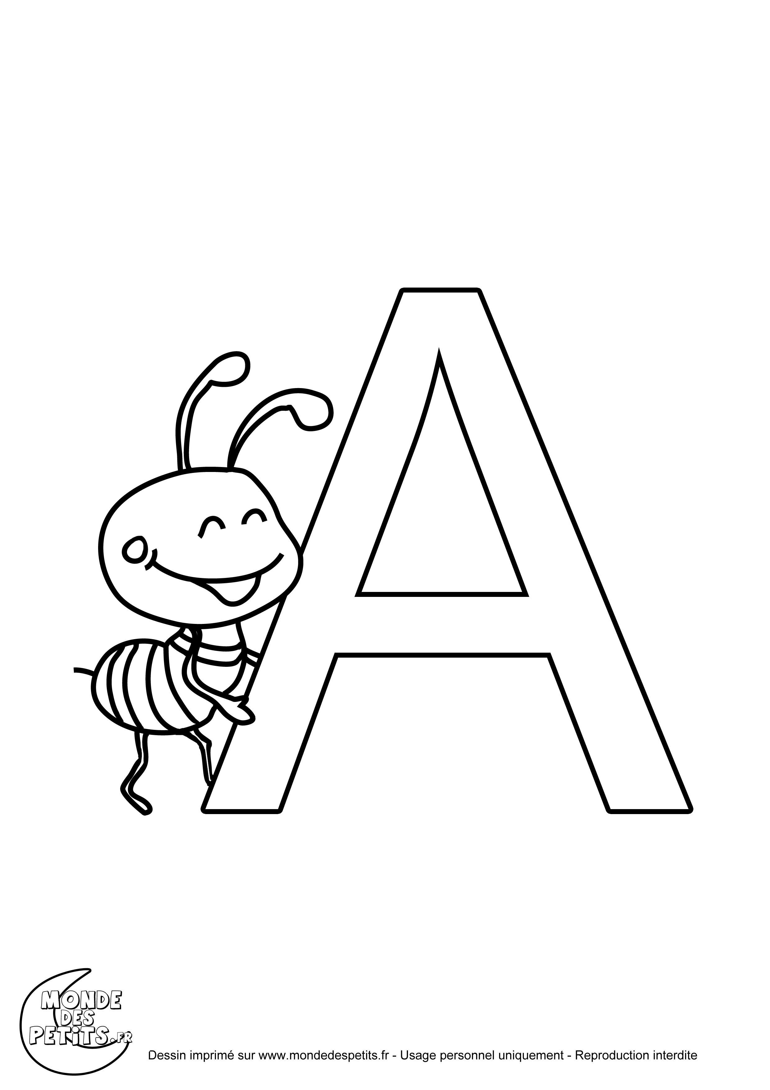 Coloriage Alphabet Francais.Monde Des Petits Coloriages A Imprimer