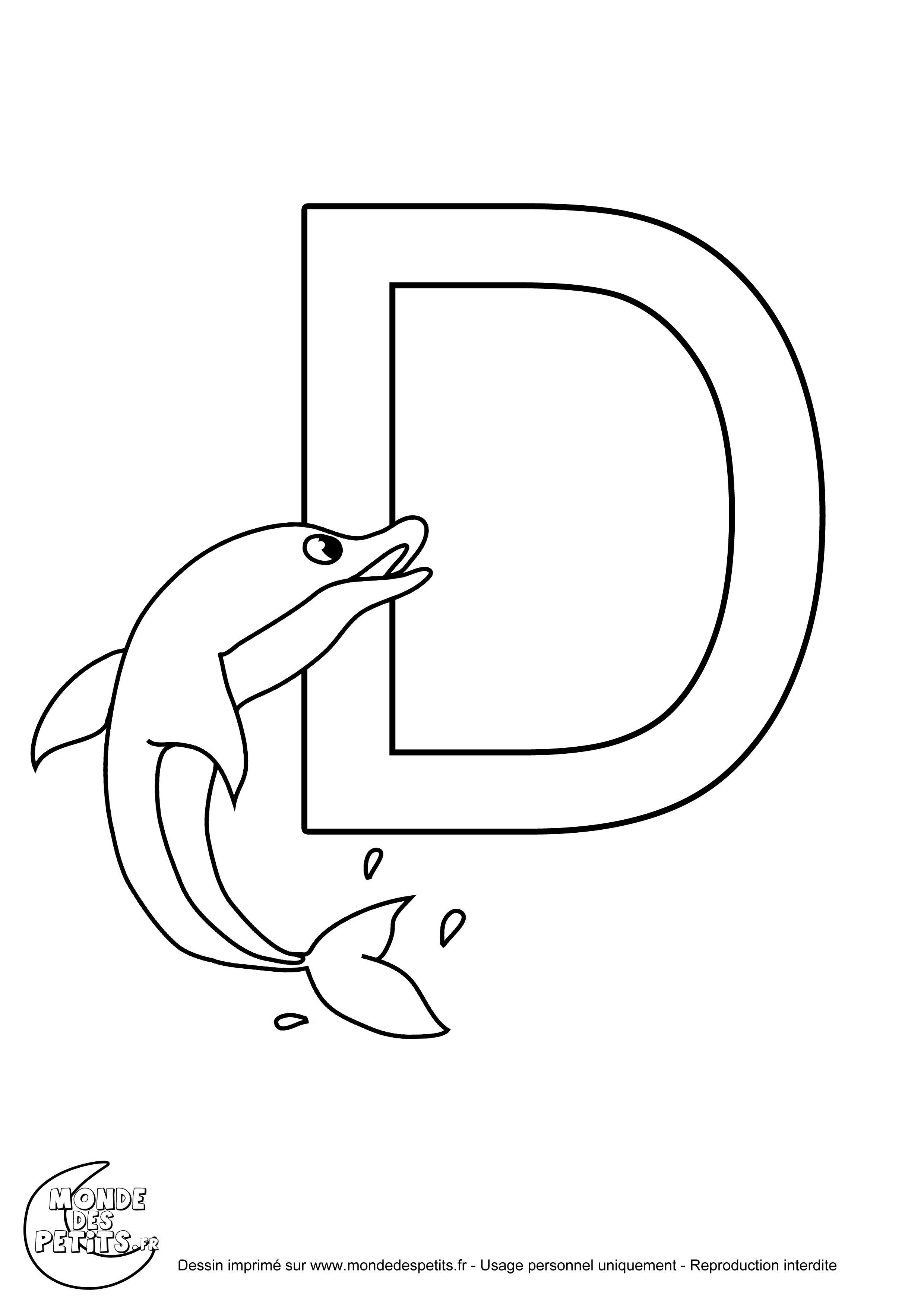 coloriage de lalphabet imprimer la lettre d