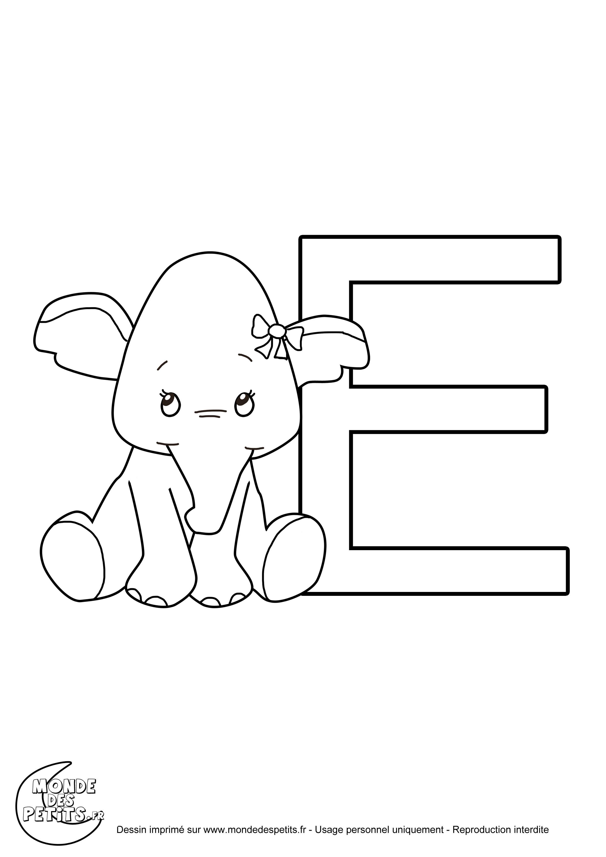 Retour au d but coloriage lettre alphabet animaux - Lettres a colorier ...