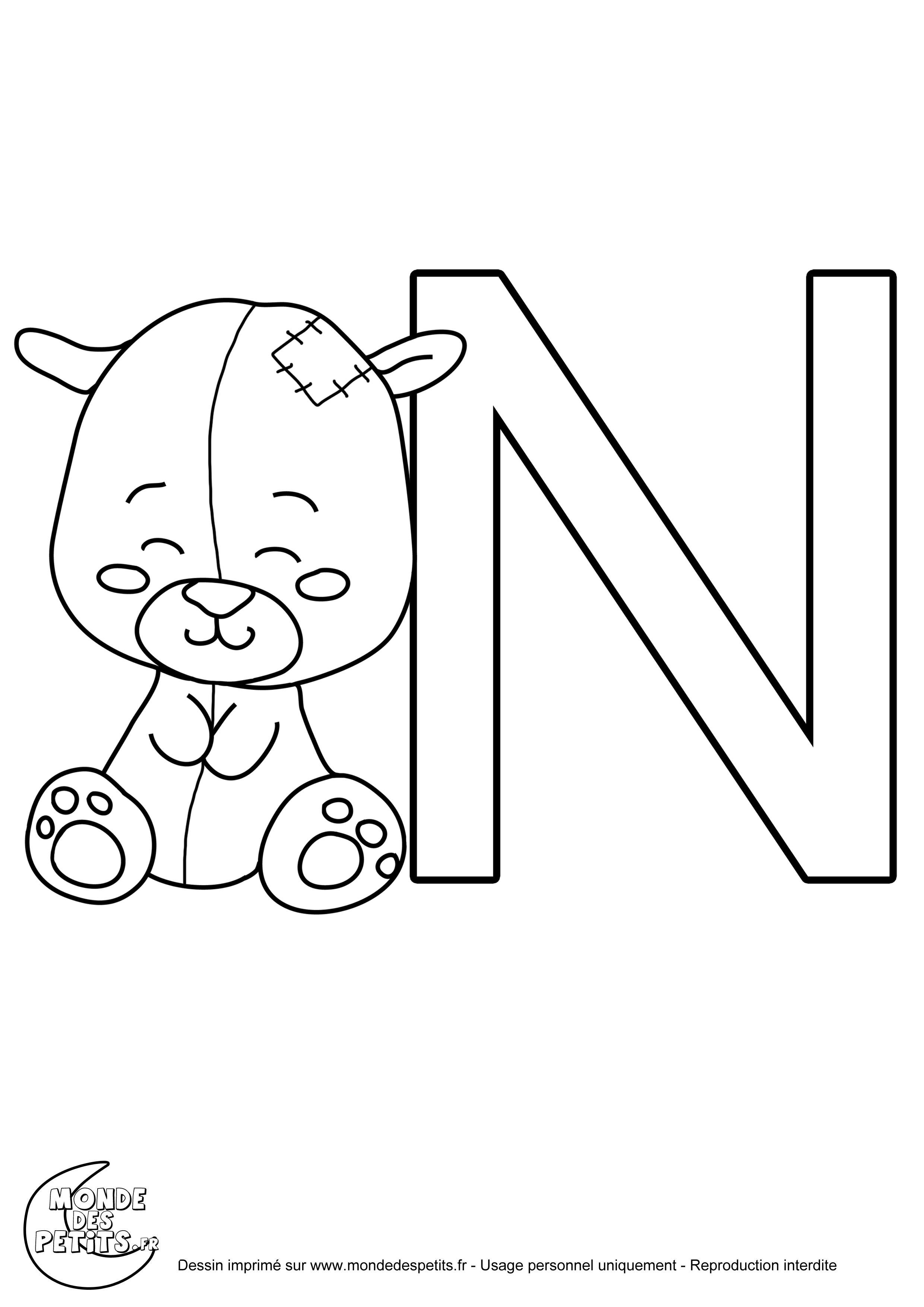 Monde des petits coloriages imprimer - Coloriage alphabet animaux ...