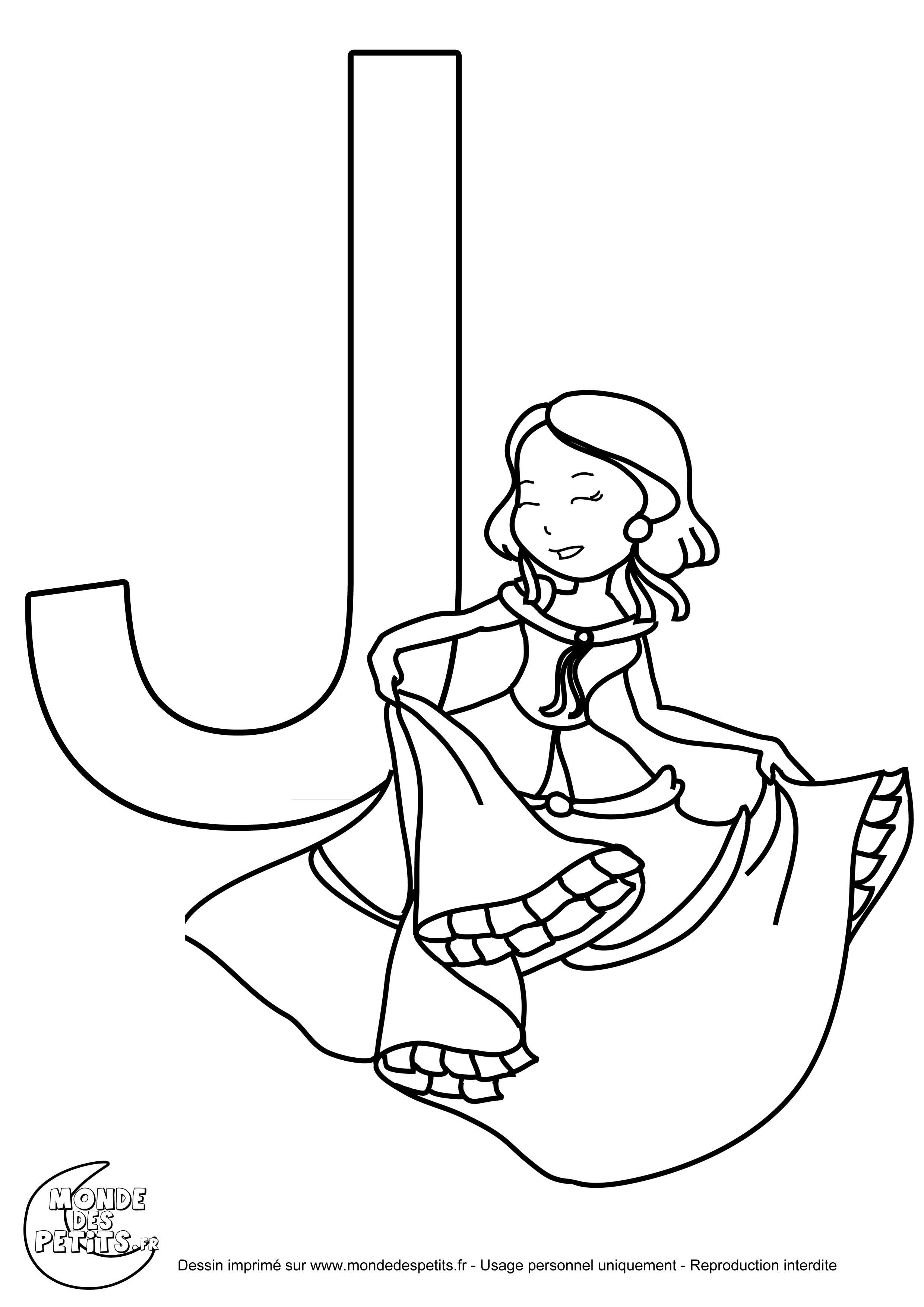 coloriage de princesses imprimer avec les lettres majuscules - Lettre Majuscule A Imprimer