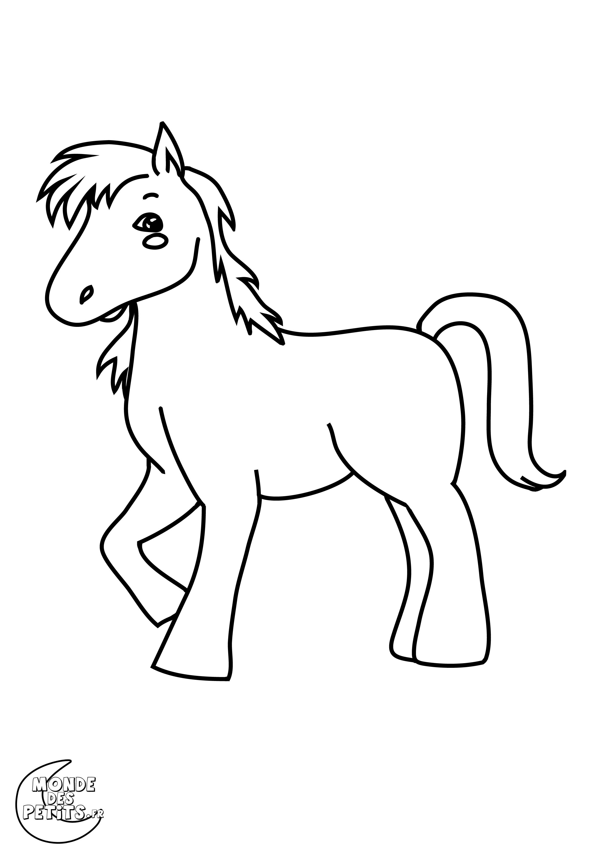 Monde des petits coloriages imprimer - Dessin a colorier cheval ...