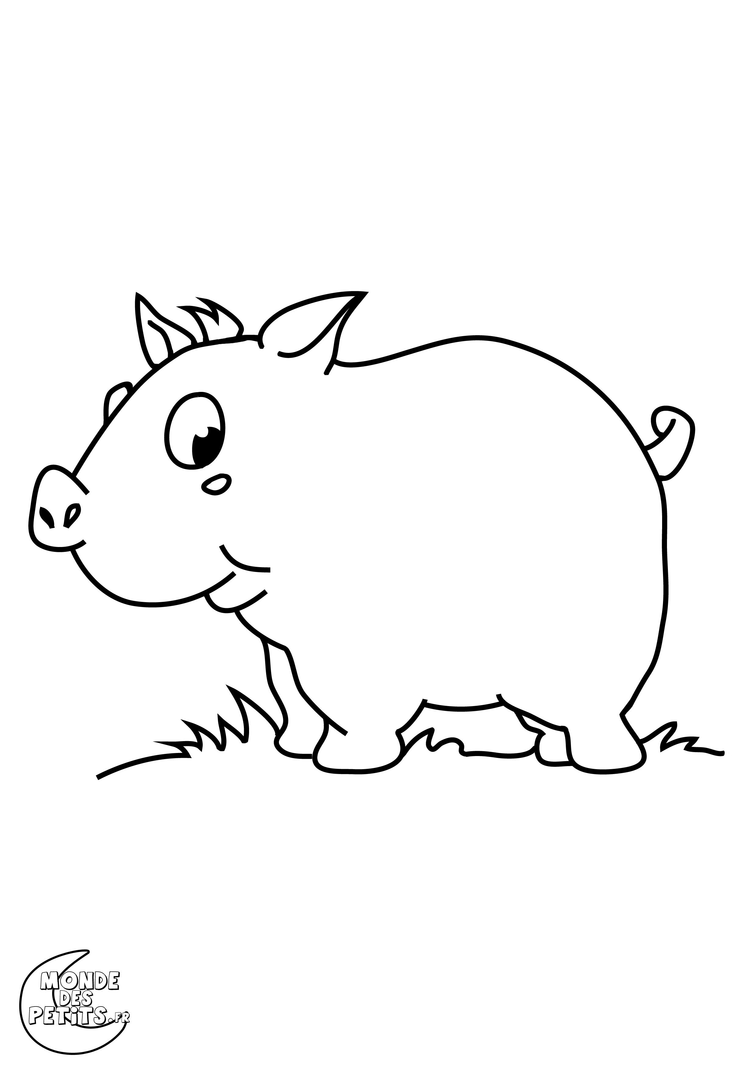 Coloriage Ferme Cochon.Monde Des Petits Coloriages A Imprimer