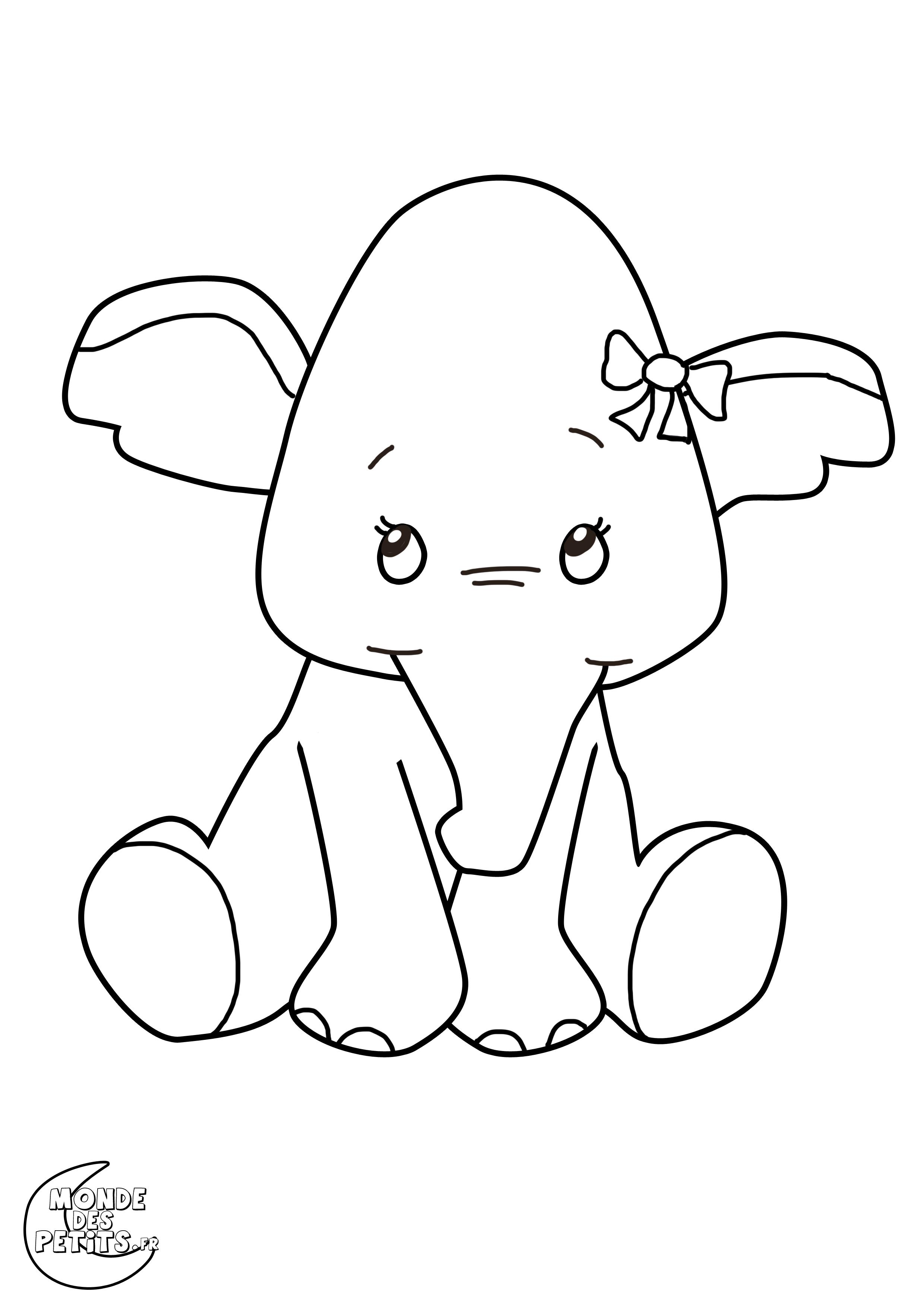 Coloriage Poisson Elephant.Monde Des Petits Coloriages A Imprimer