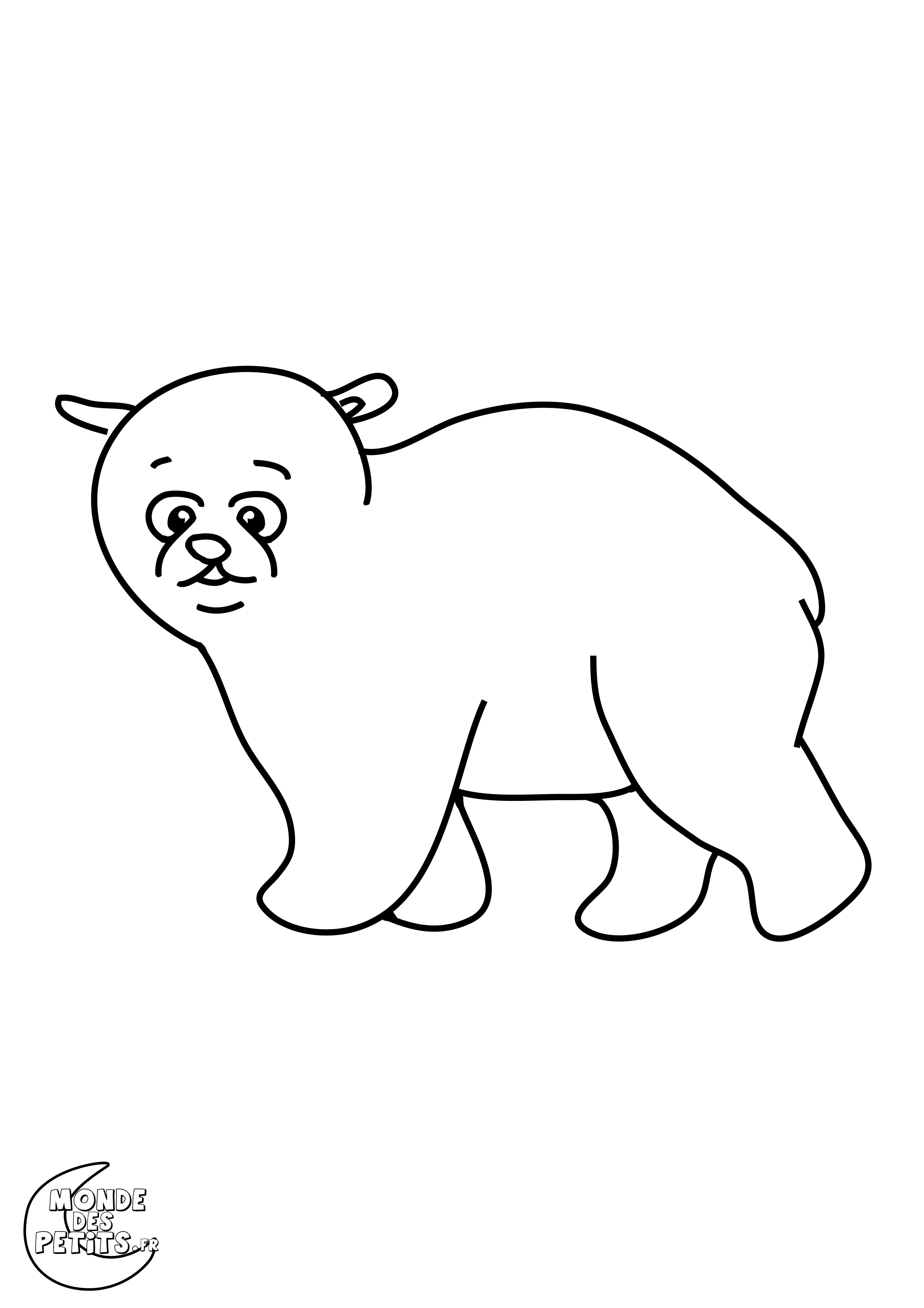 Pin coloriage ours polaire coloriages animaux froid - Coloriage espagnol ...