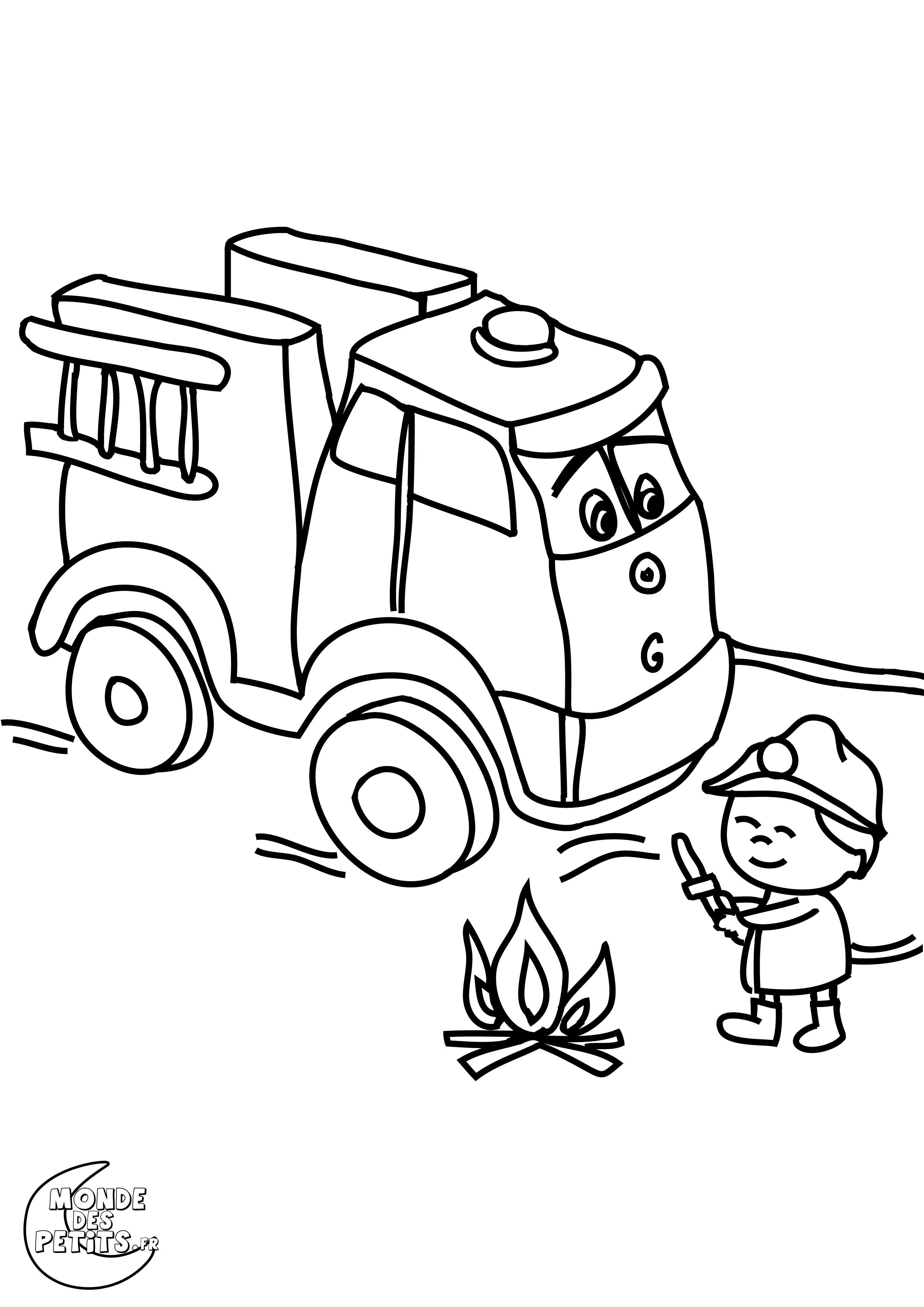 Monde des petits coloriages imprimer - Coloriages pompiers ...