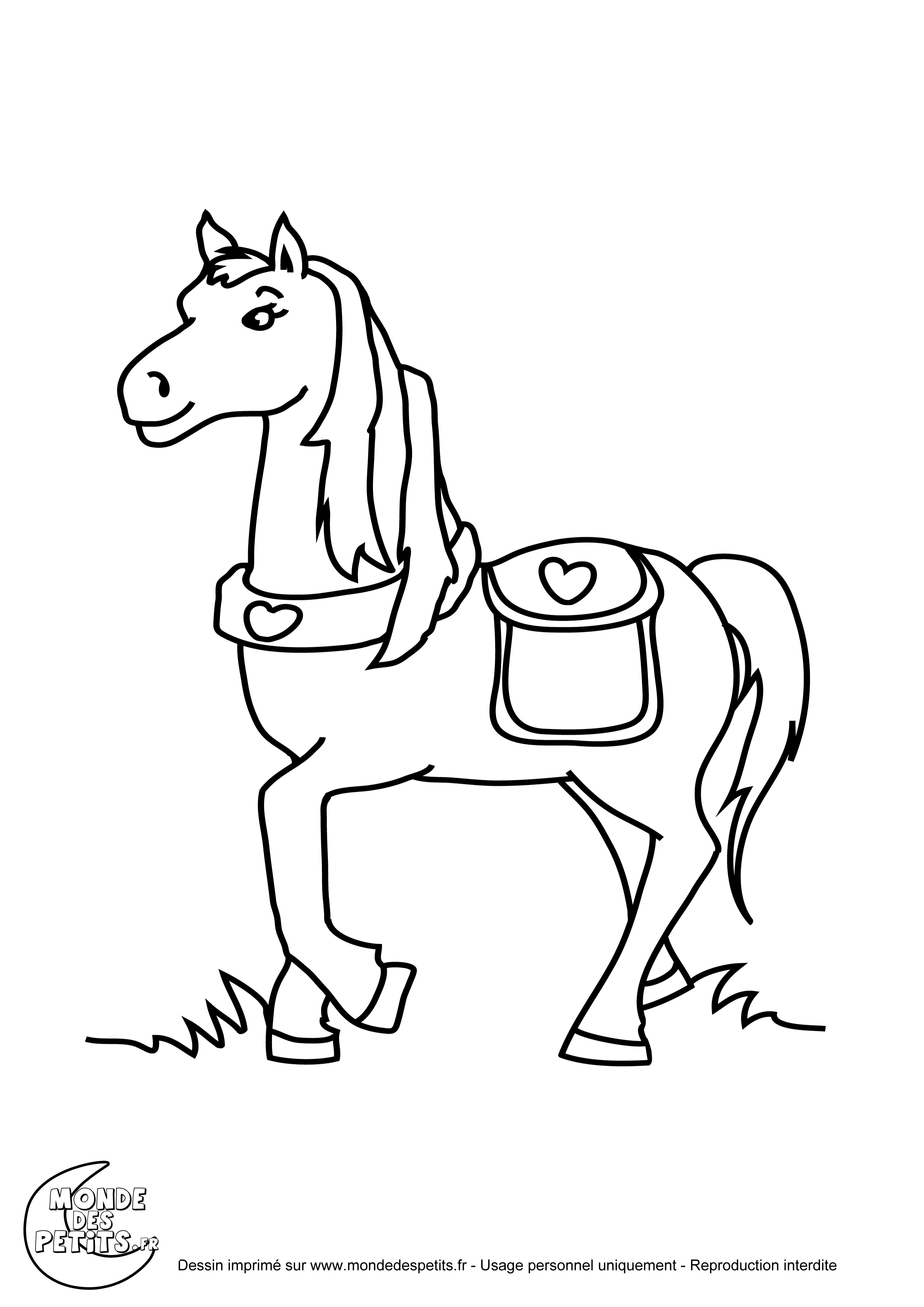 Monde des petits coloriages imprimer - Coloriage cheval et poulain ...