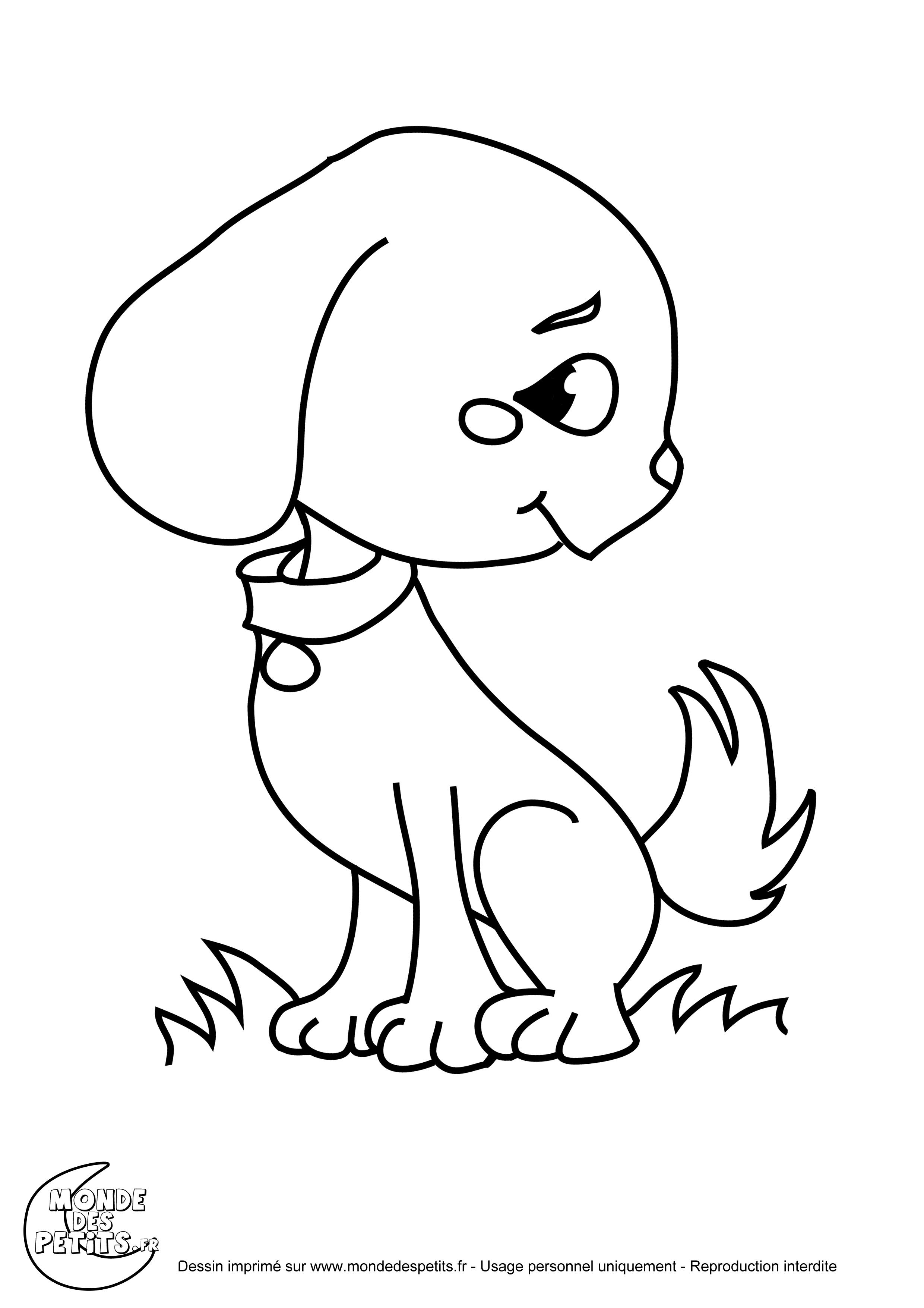 Coloriage chiot a imprimer gratuit - Coloriage de chien ...