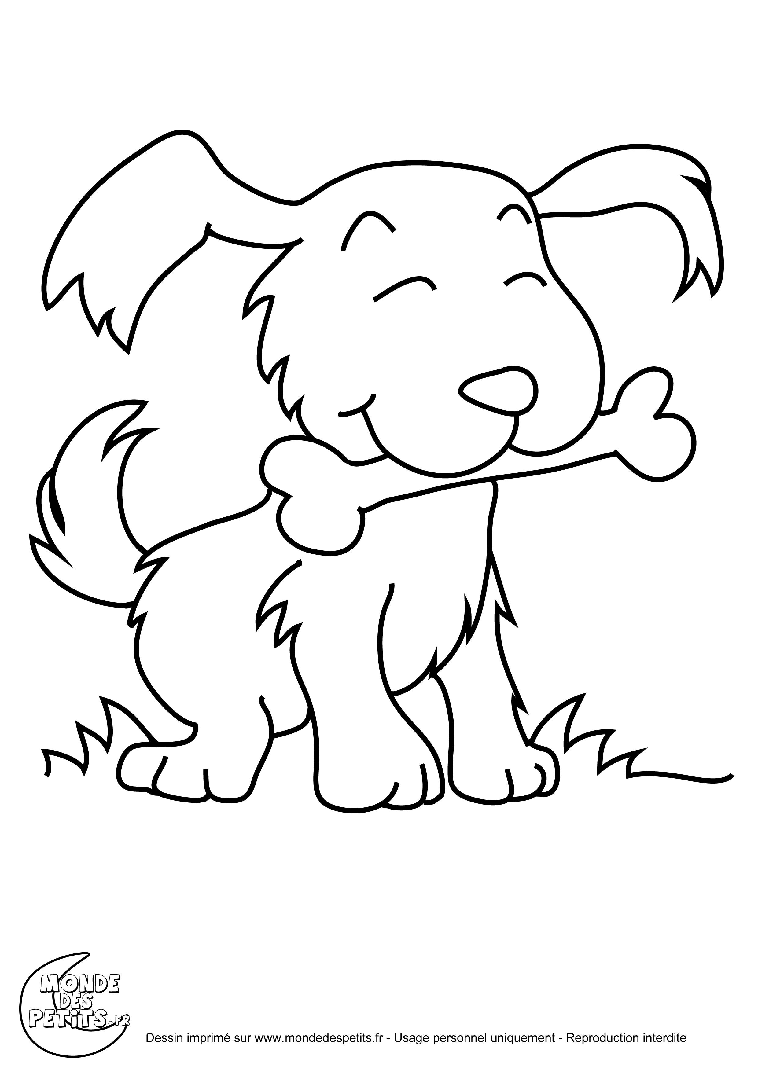 Monde des petits coloriages imprimer - Coloriage de chien ...