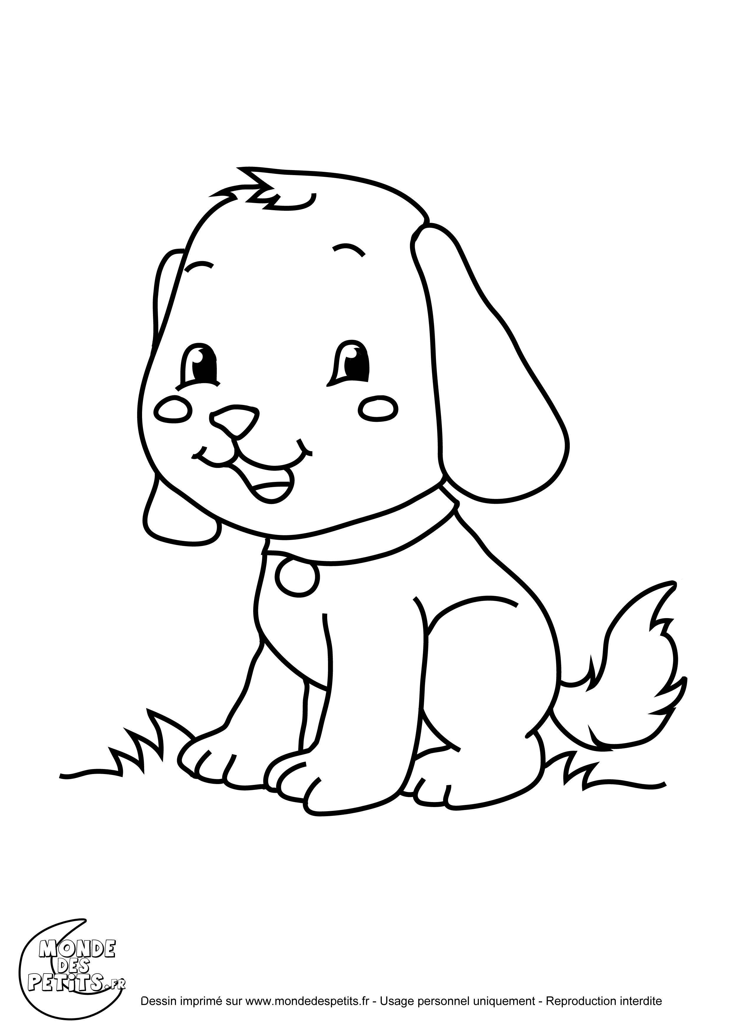 Monde des petits coloriages imprimer - Dessin tete de chien ...