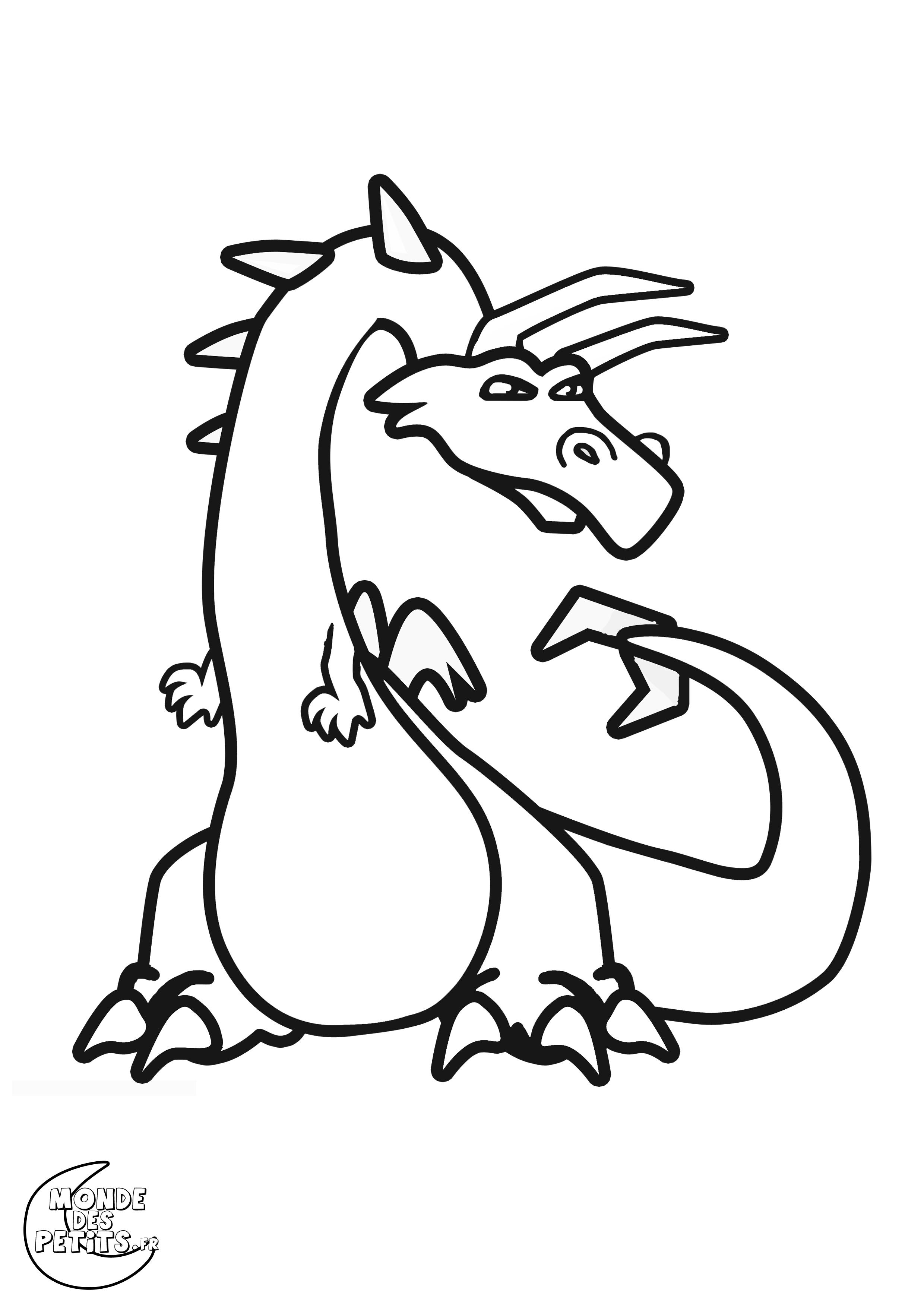 Coloriage le grand dragon