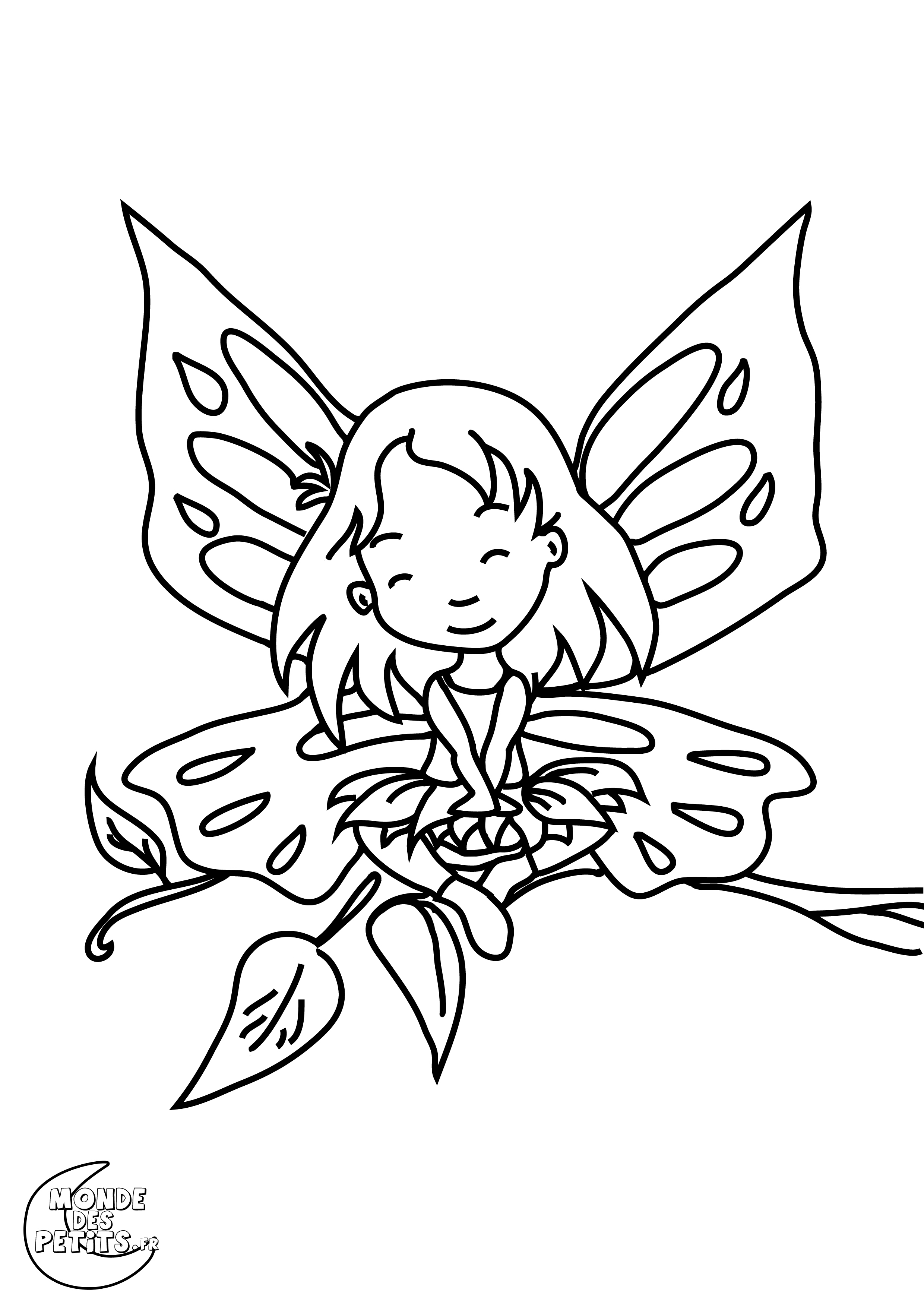 15 coloriage fee clochette fee des fleurs - Coloriage fee clochette ...