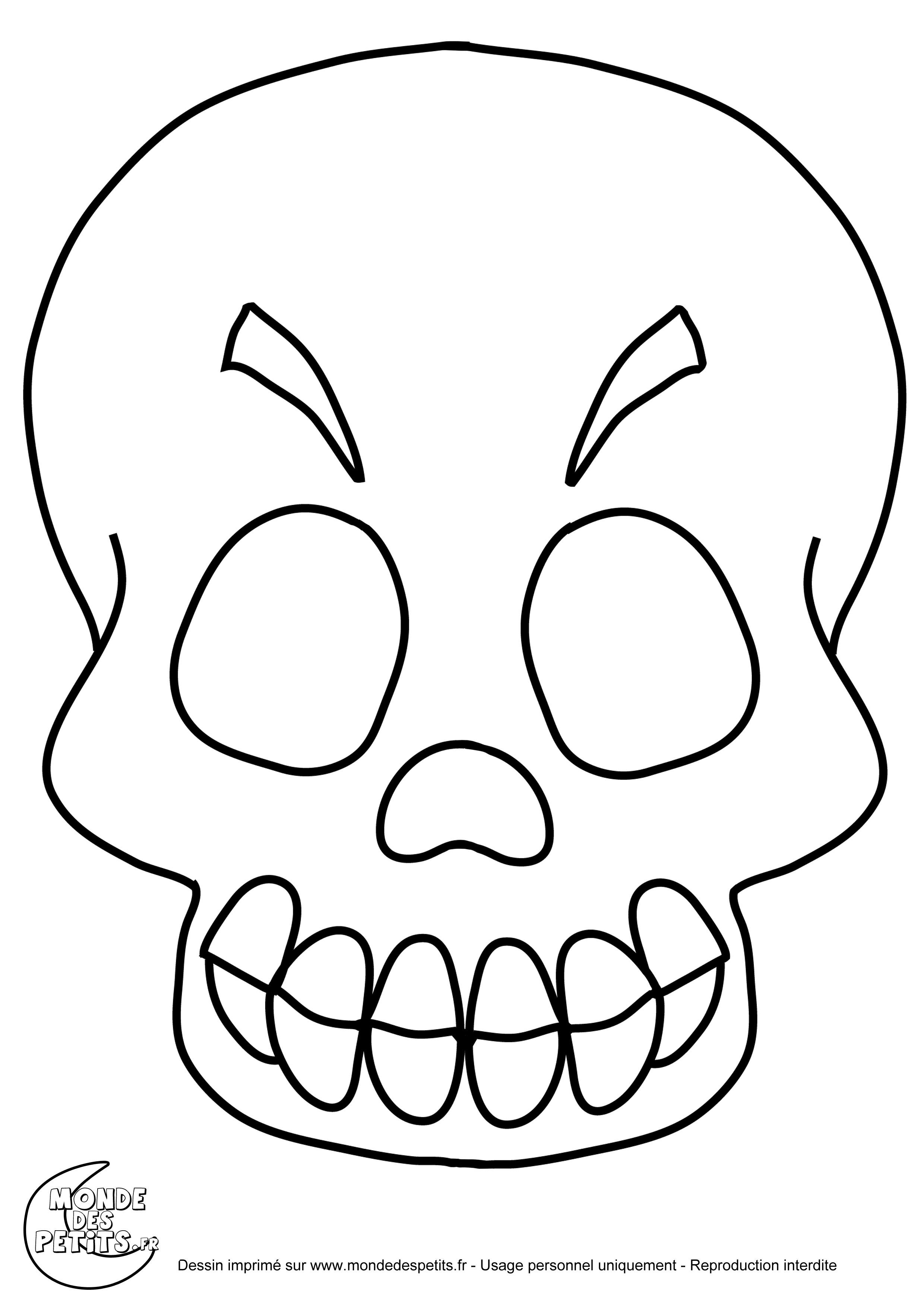 Monde des petits coloriages imprimer - Dessin de squelette ...