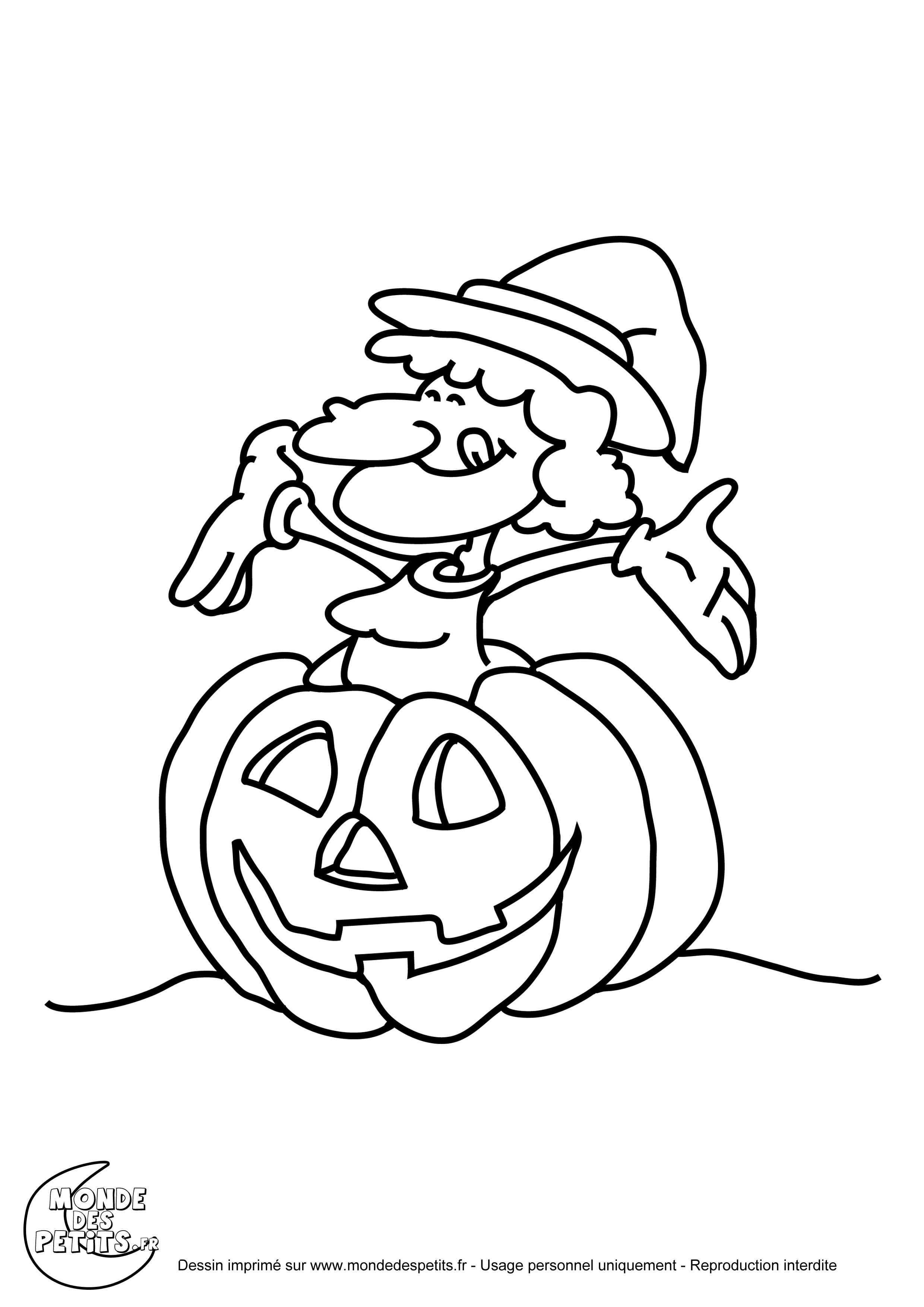 Beau Coloriage A Imprimer Halloween Citrouille