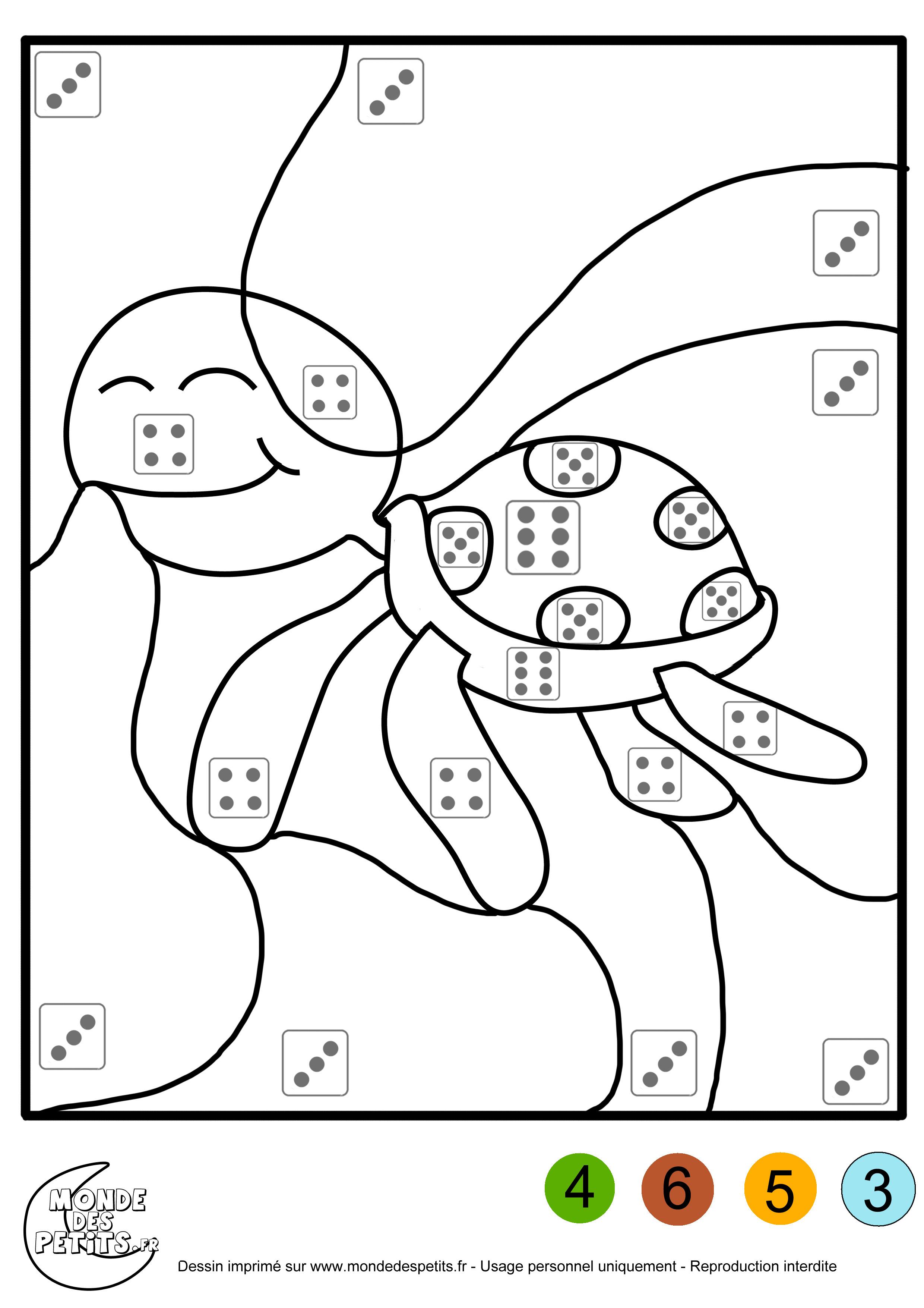 Coloriage magique pour les enfants avec des animaux