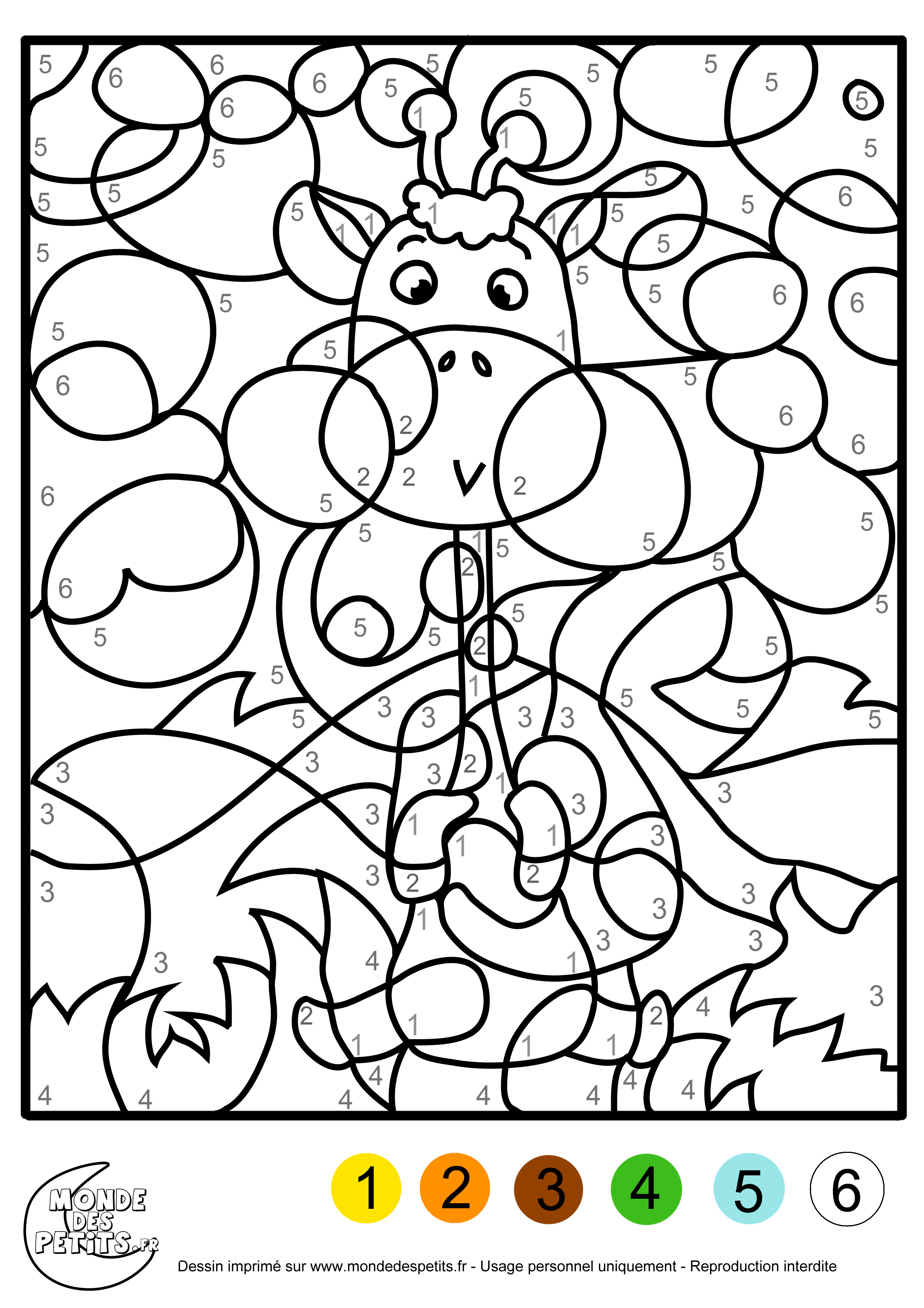 Monde des petits coloriages imprimer - Dessin de chiffre ...