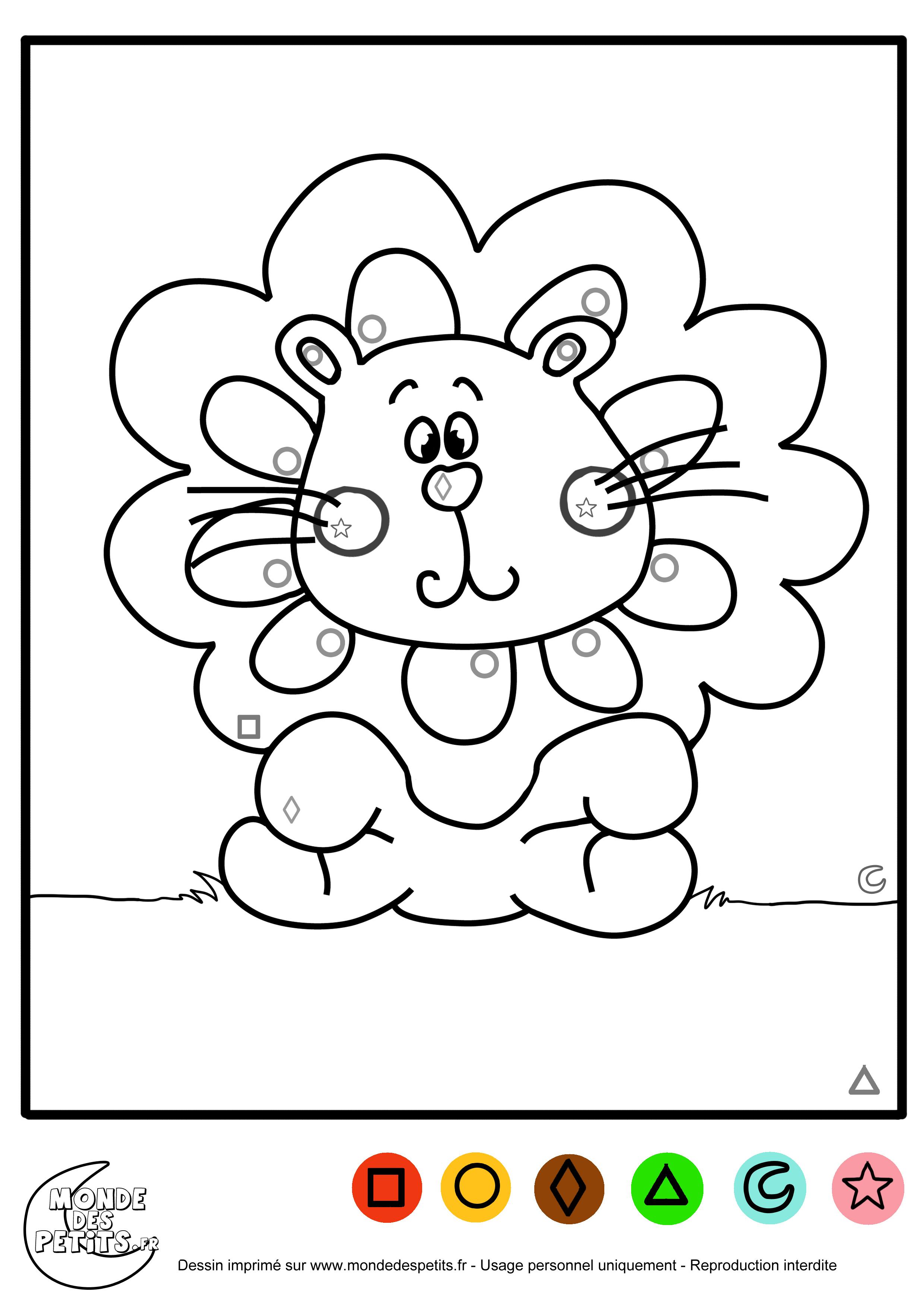 coloriage magique apprendre avec les formes coloriage magique pour les petits