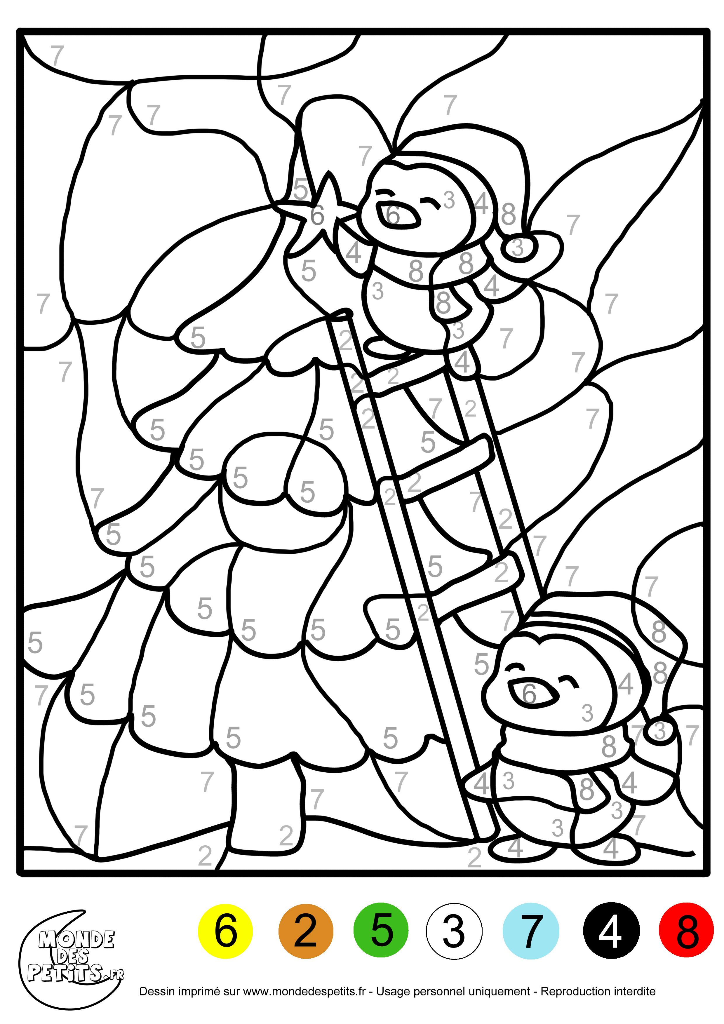 Coloriage Magique De Noel à Imprimer Gratuit : monde des petits coloriages imprimer ~ Pogadajmy.info Styles, Décorations et Voitures