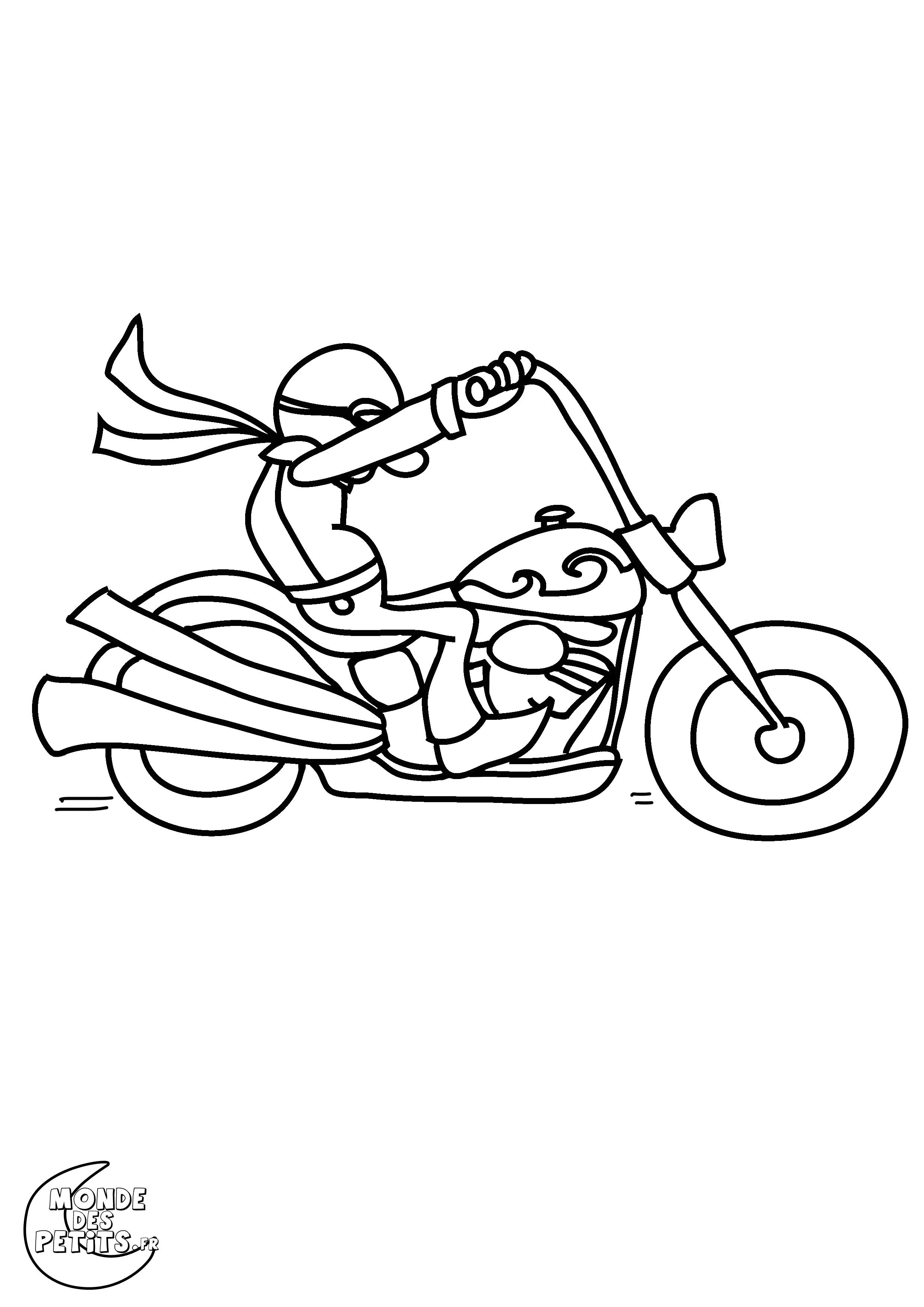 Monde des petits coloriages imprimer - Dessin de moto facile a faire ...