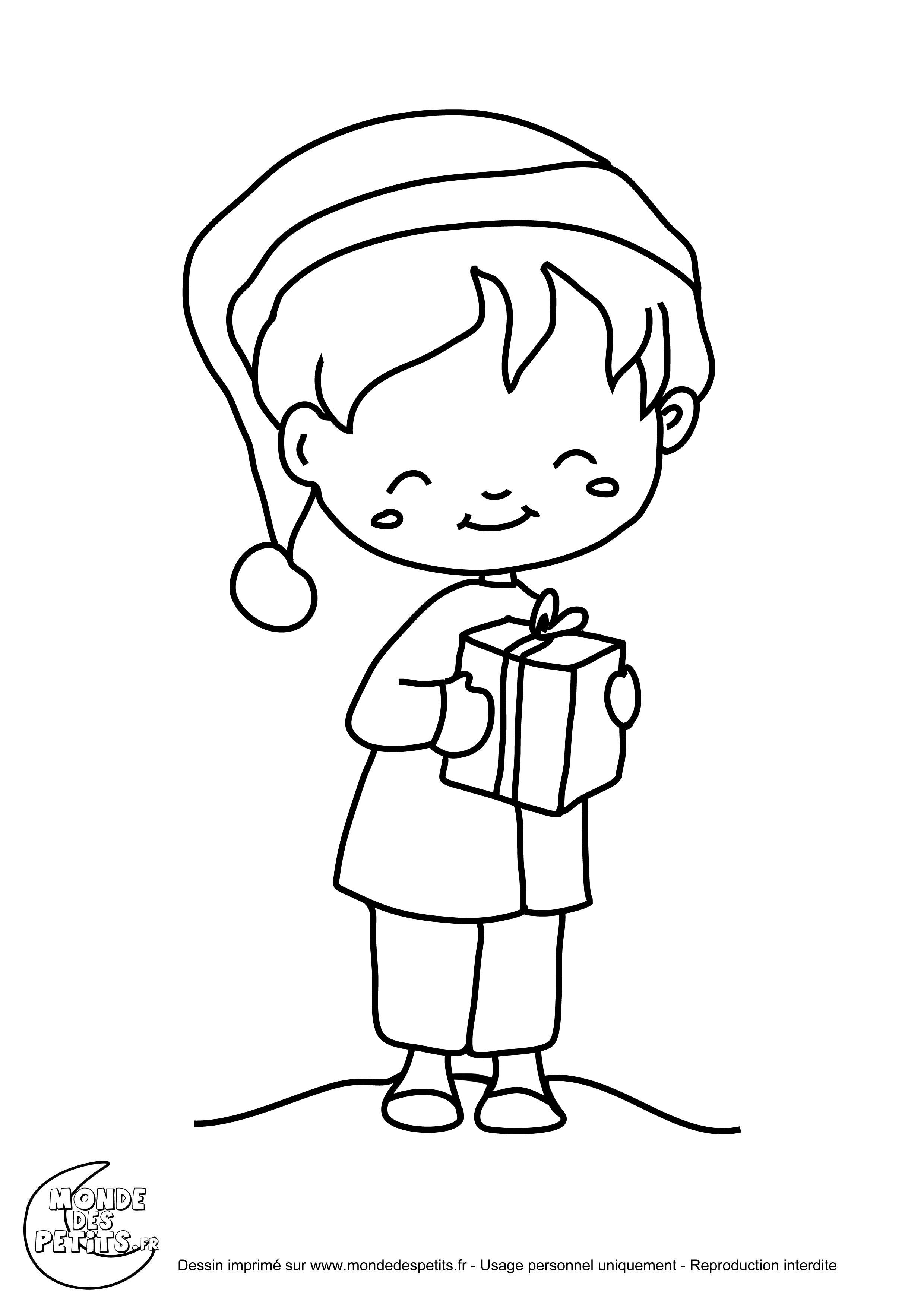 Meilleur de coloriage de cadeau noel - Cadeau coloriage ...