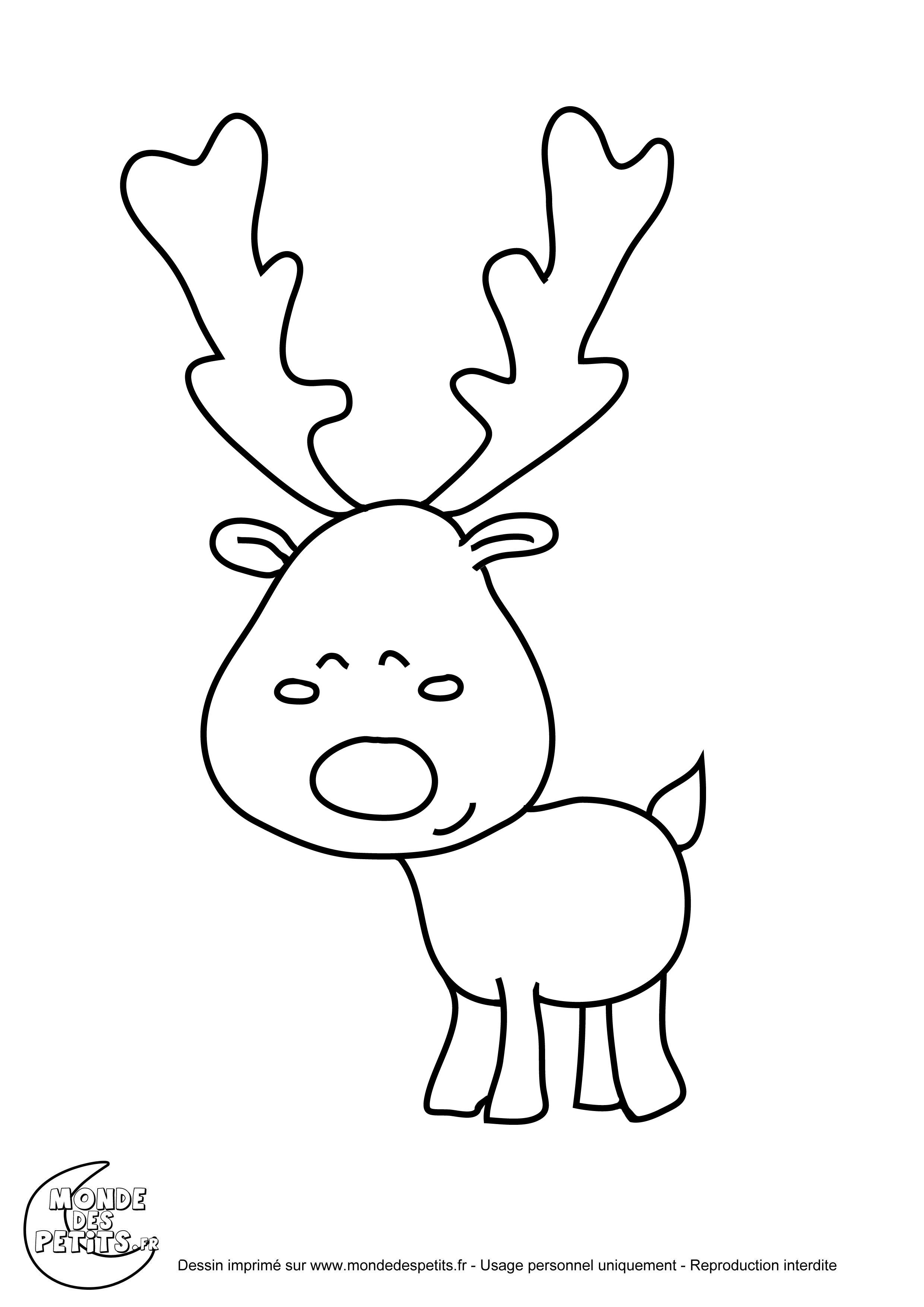 Monde des petits coloriages imprimer - Coloriage de renne ...