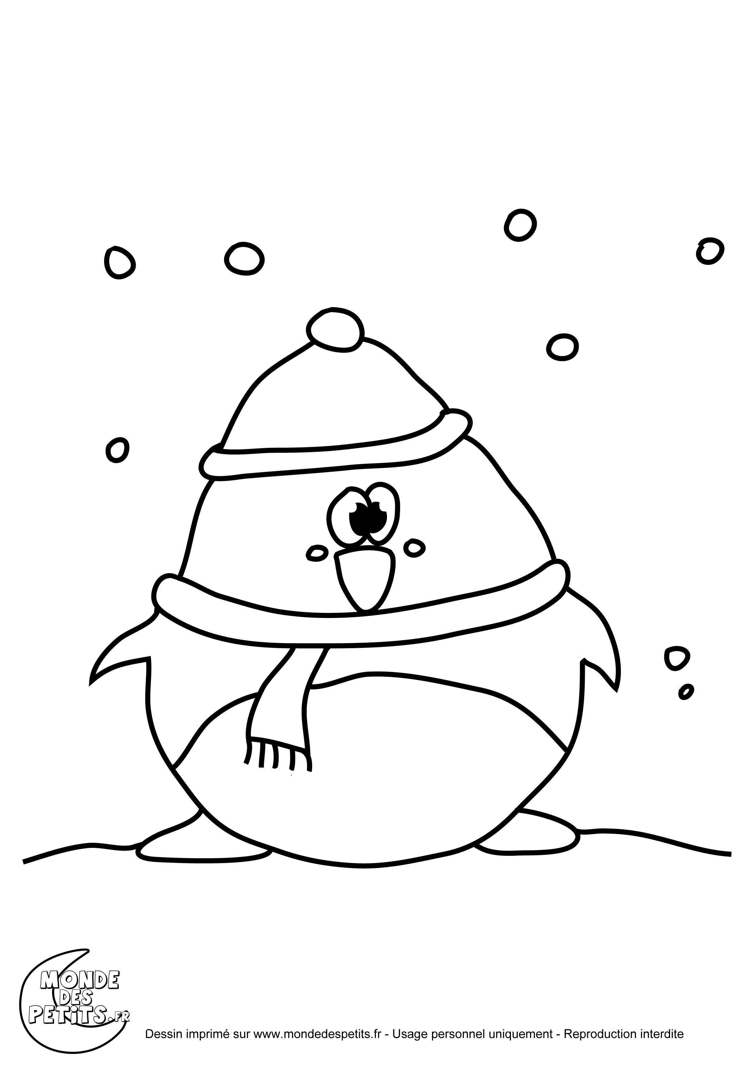 Monde des petits coloriages imprimer - Coloriage pinguin ...