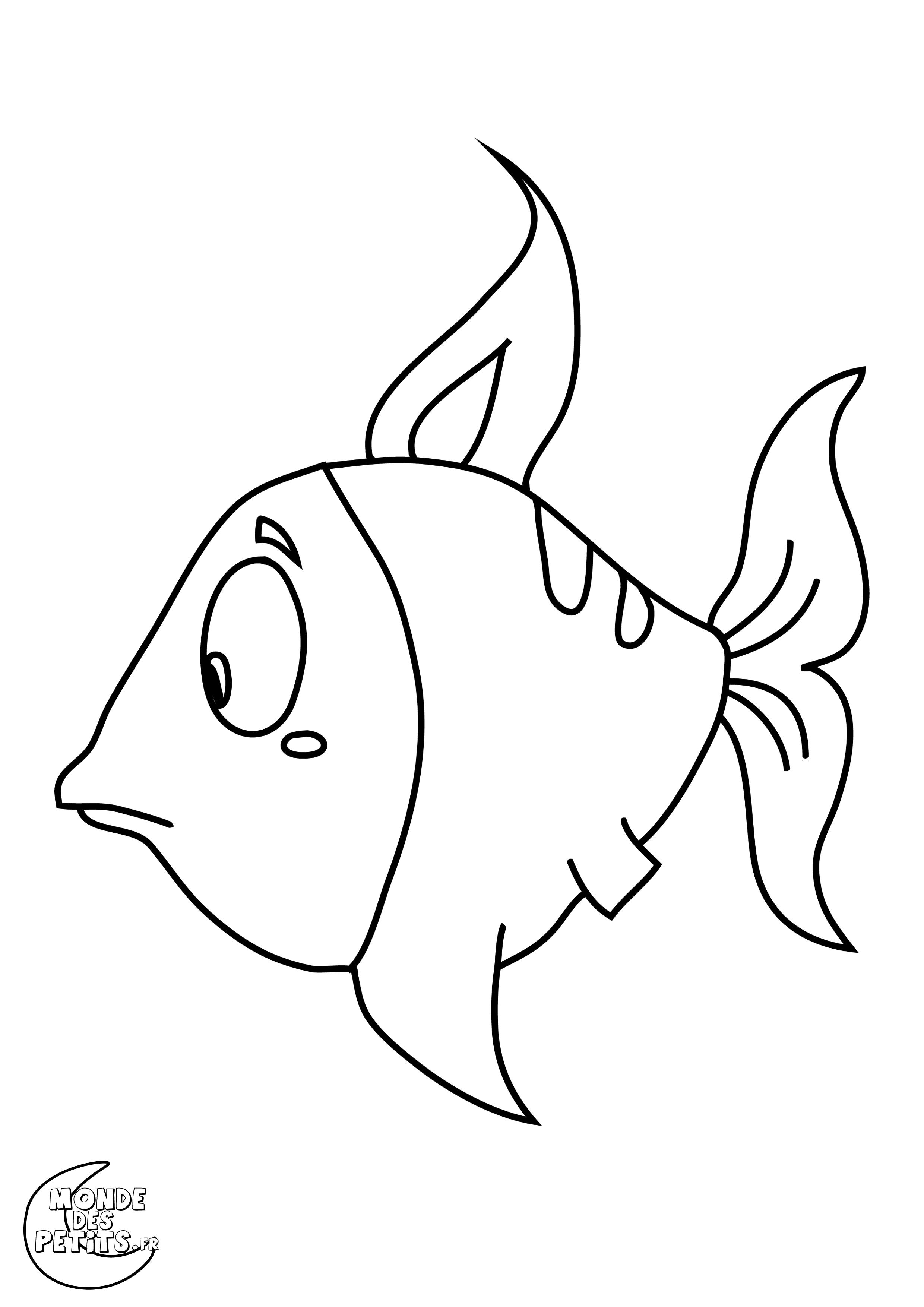 Monde des petits coloriages imprimer - Dessin de poisson ...