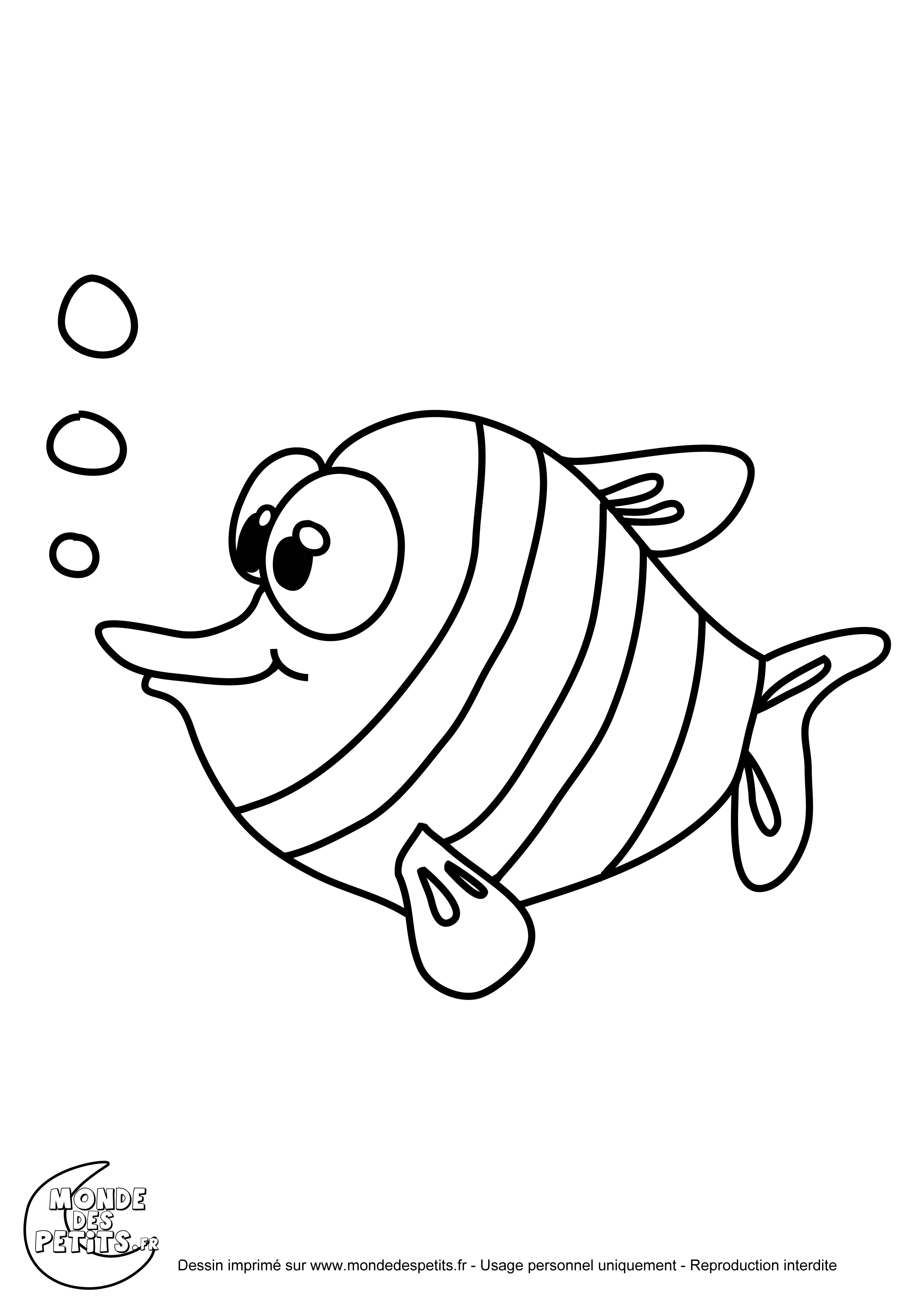 Unique dessin a colorier et a imprimer de poisson - Coloriages poissons ...