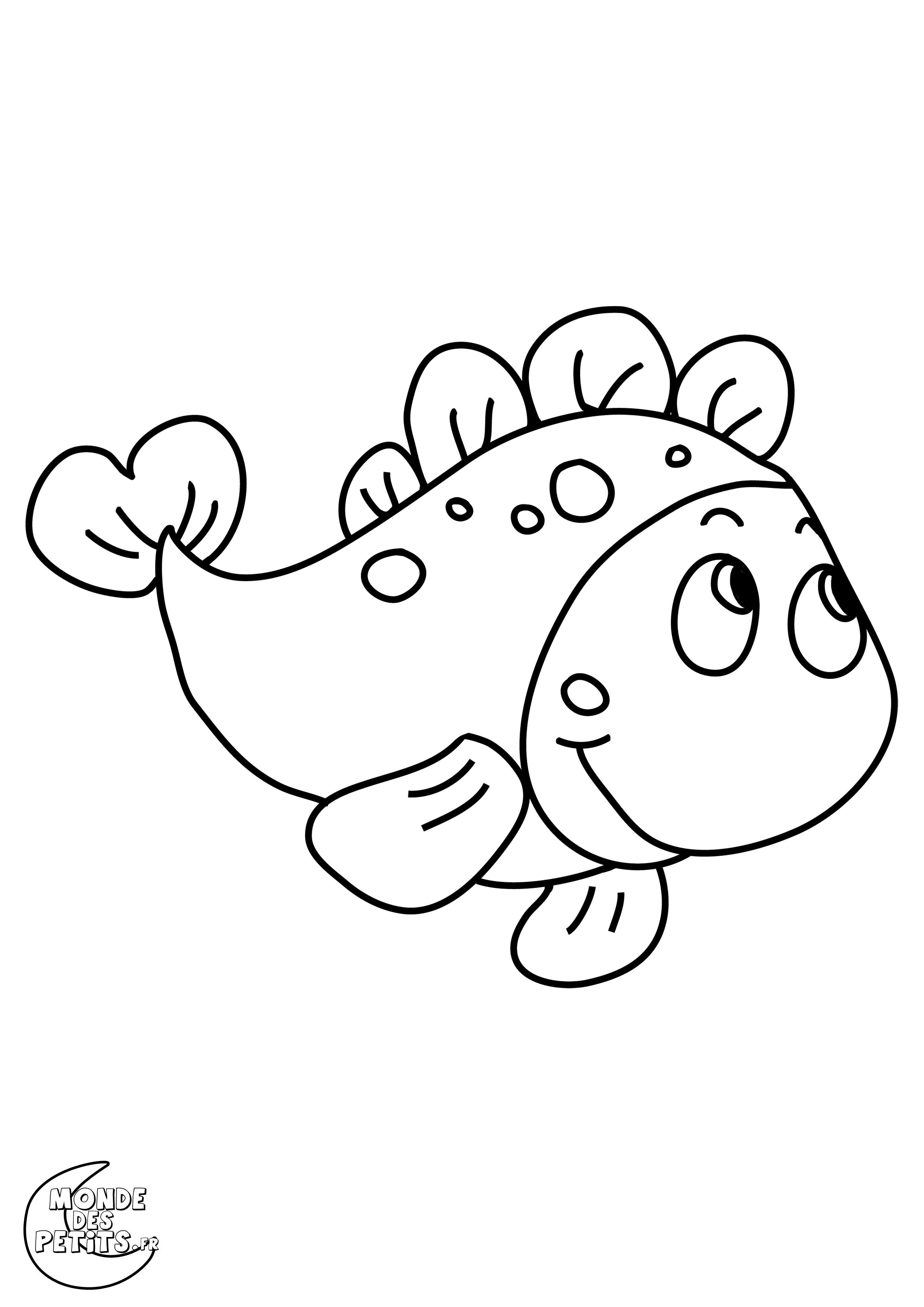 Monde des petits coloriages imprimer - Dessin poisson d avril rigolo ...