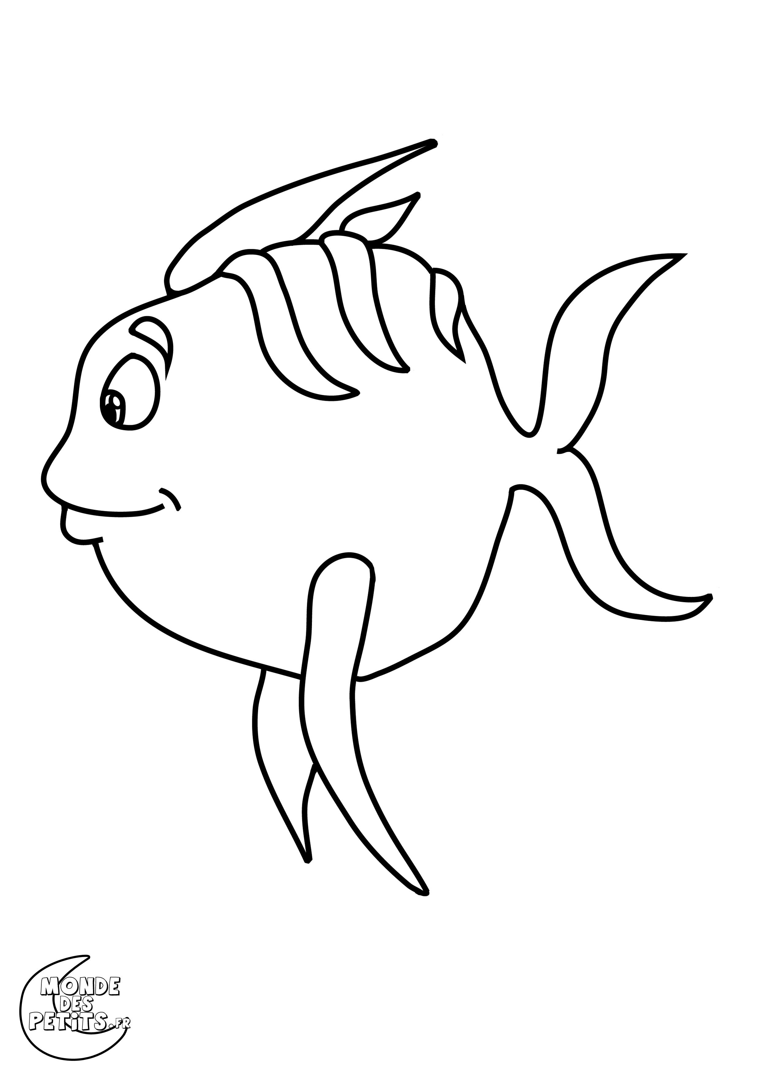 Dessin poisson rigolo couleur - Poisson rouge rigolo ...