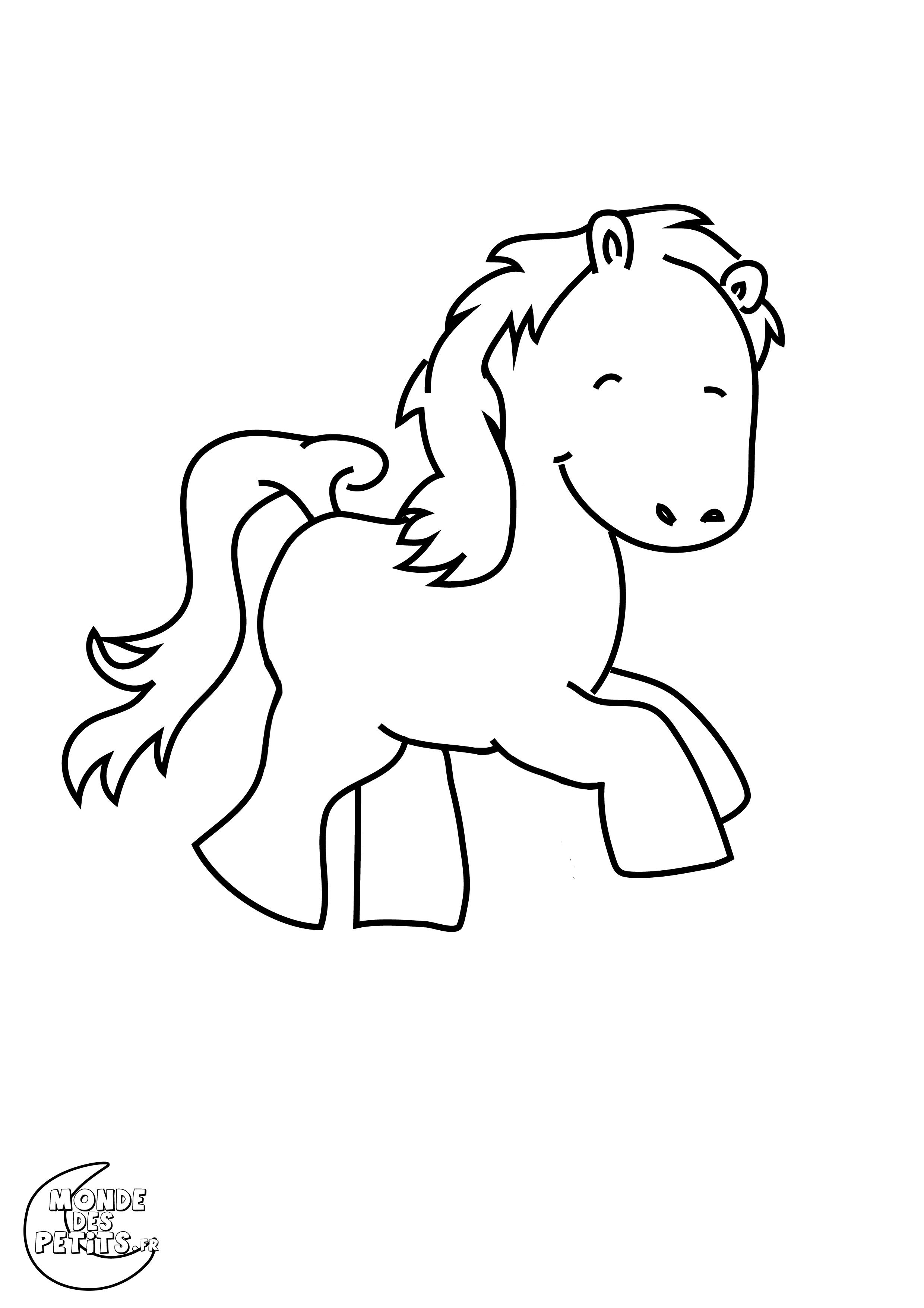 Monde des petits coloriages imprimer - Coloriage poney en ligne ...