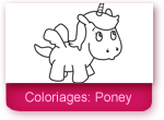 Coloriages: poney