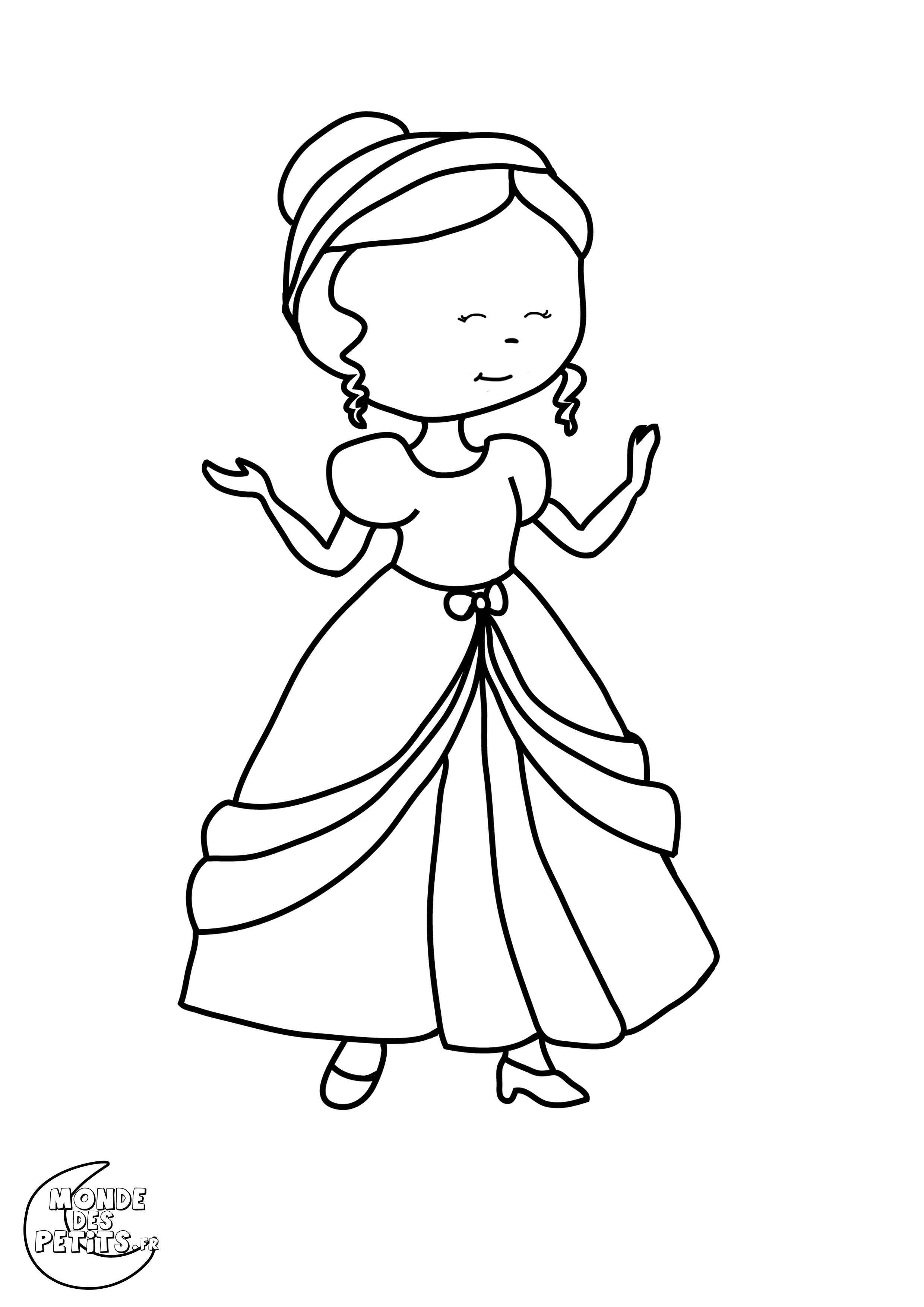 Monde des petits coloriages imprimer - Images princesse ...