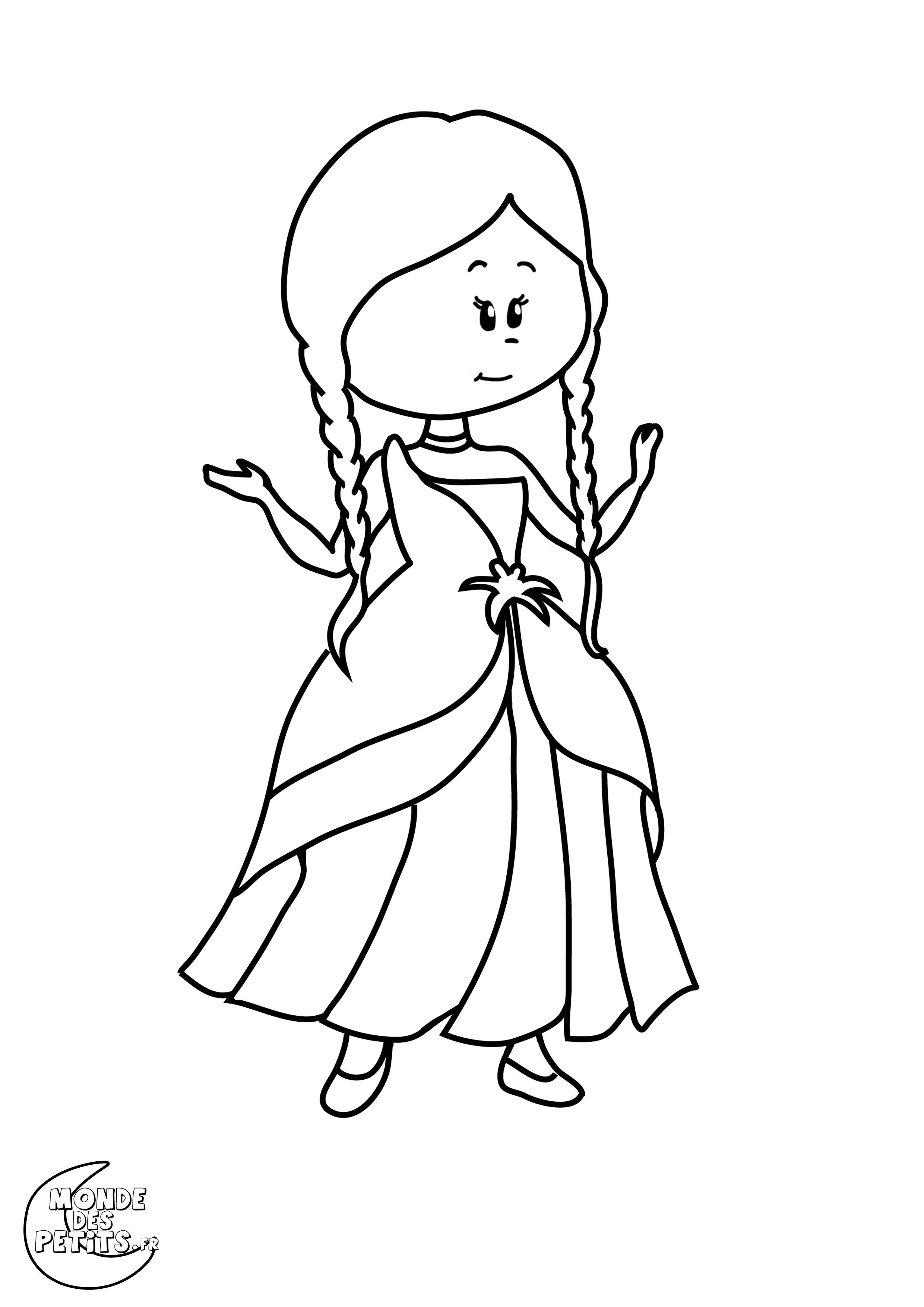 Impressionnant Dessin A Colorier Princesse Blanche Neige